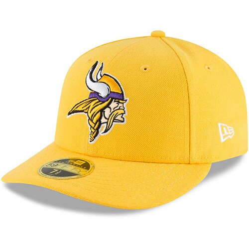 Minnesota Vikings New Era Omaha Low Profile 59FIFTY Fitted Hat - Gold