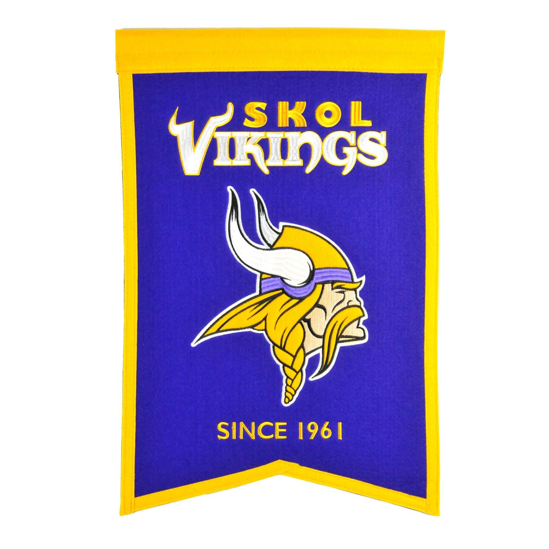 """Minnesota Vikings 14"""" x 22"""" Team Franchise Banner"""