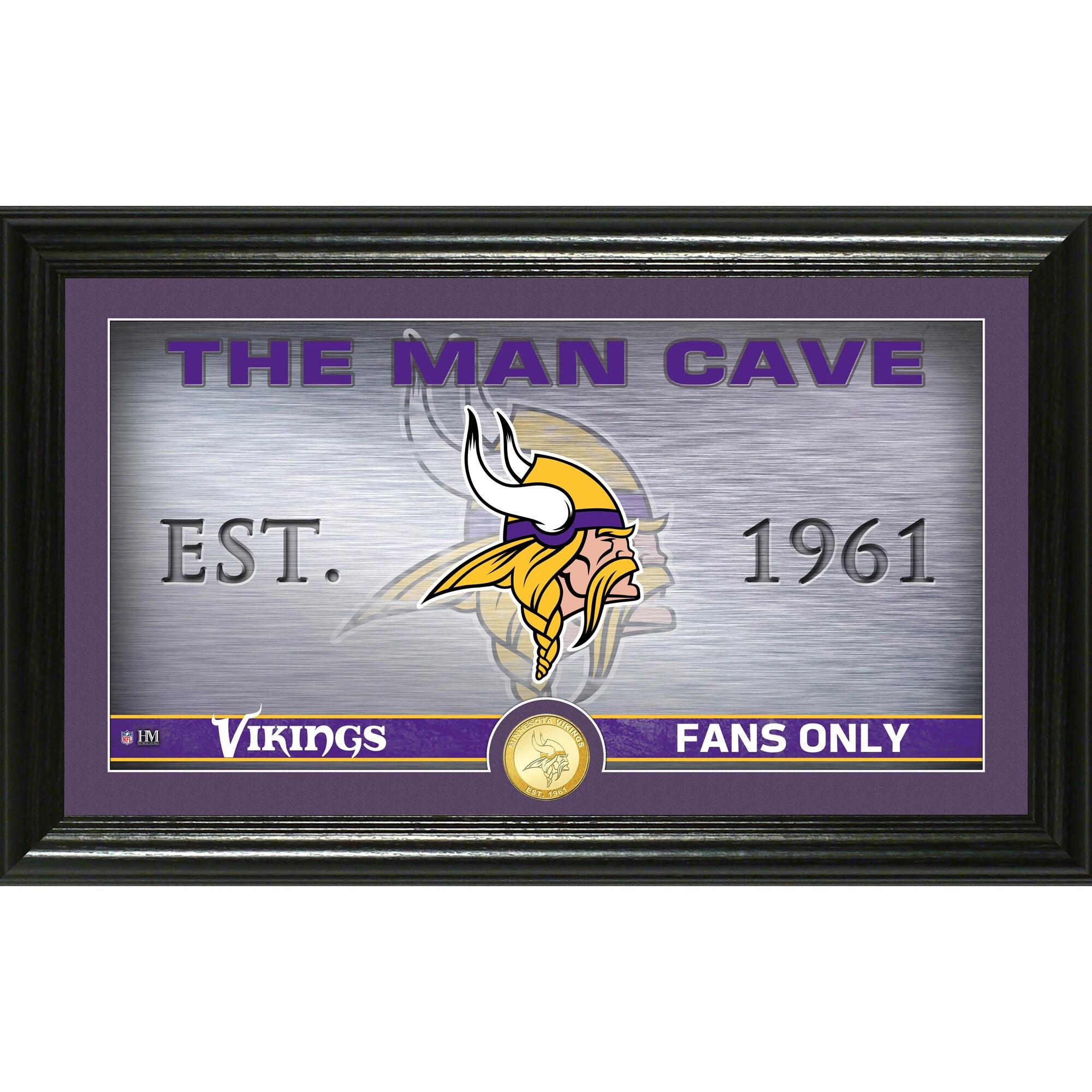 "Minnesota Vikings Highland Mint 12"" x 20"" Man Cave Photo Mint"