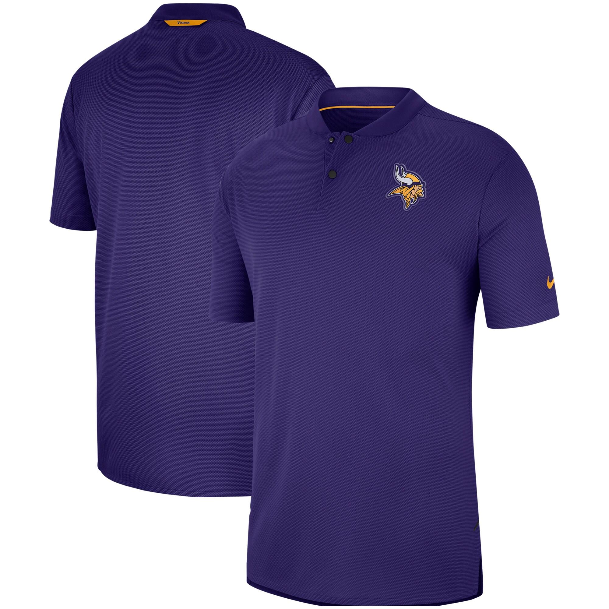 Minnesota Vikings Nike Sideline Elite Coaches Performance Polo - Purple