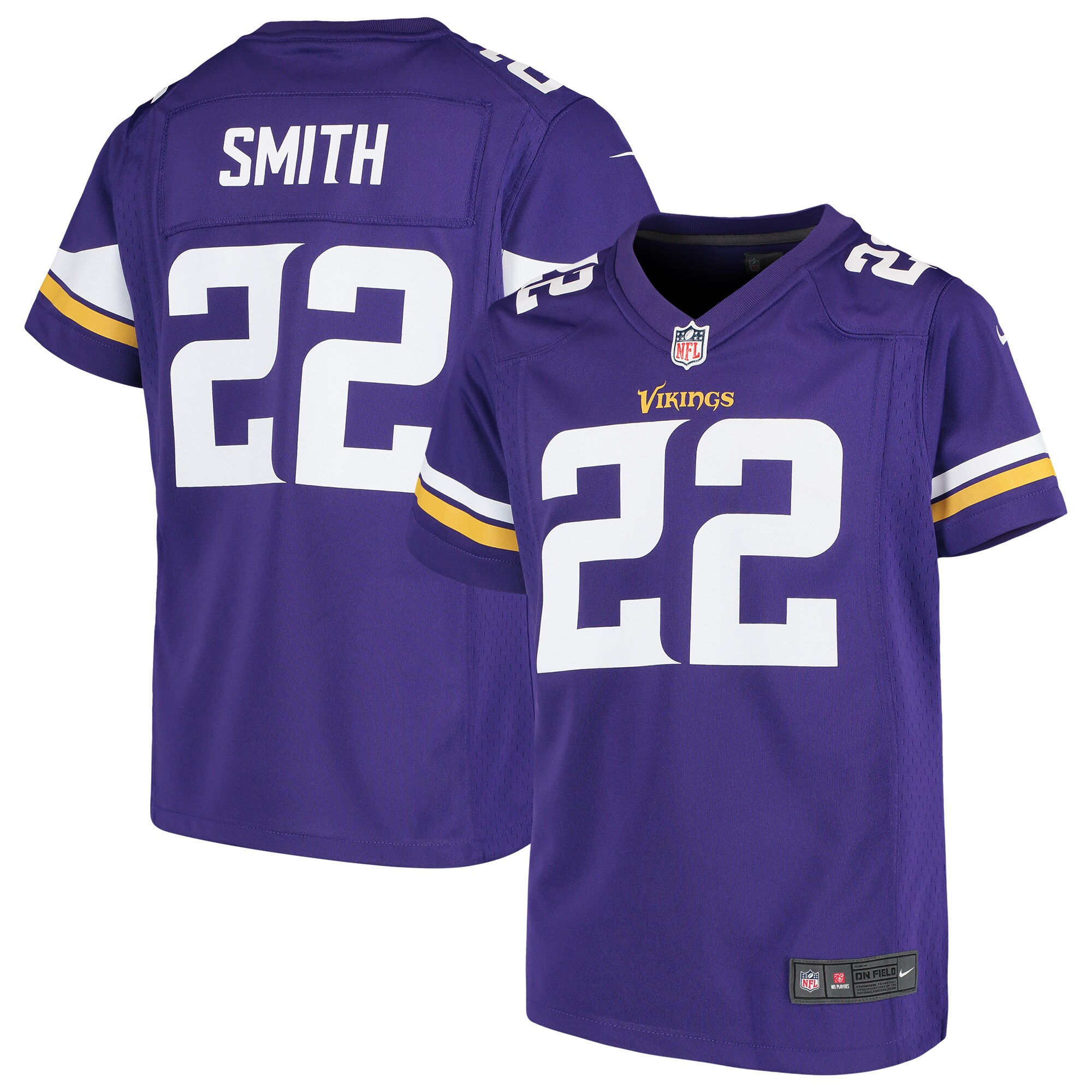 Harrison Smith Minnesota Vikings Nike Girls Youth Game Jersey - Purple