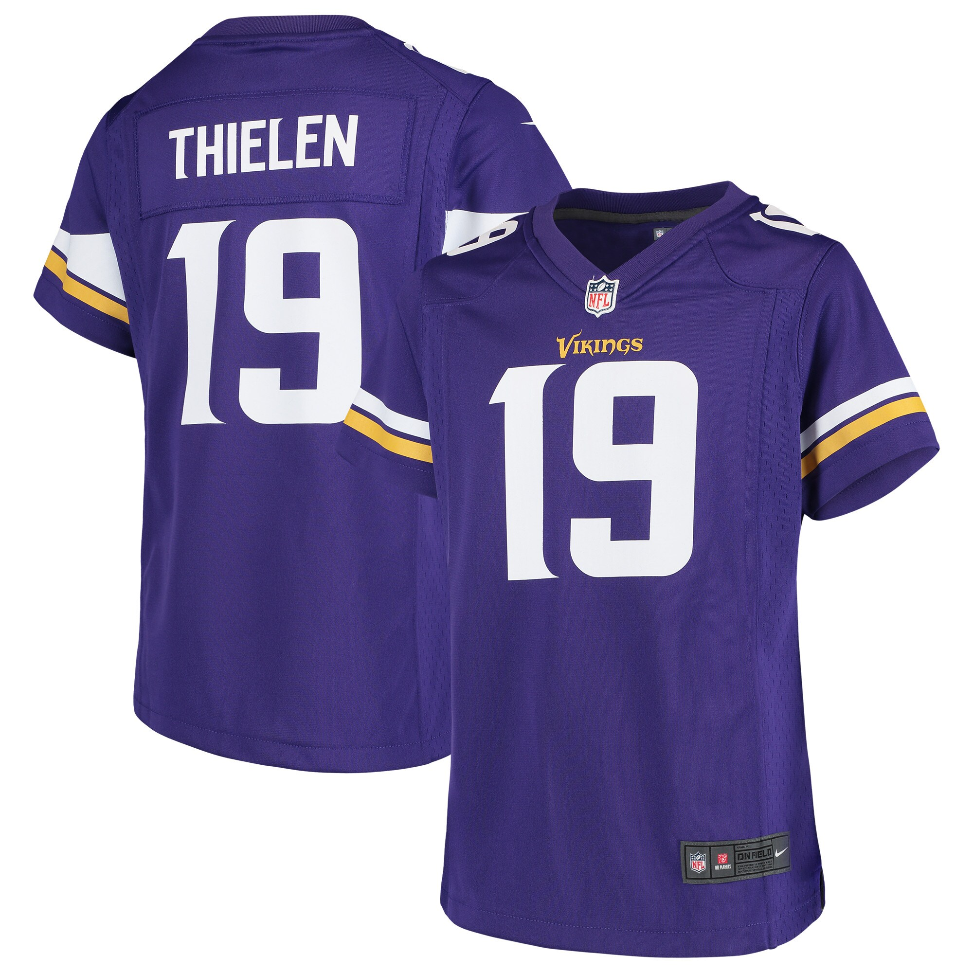 Adam Thielen Minnesota Vikings Nike Girls Youth Game Jersey - Purple