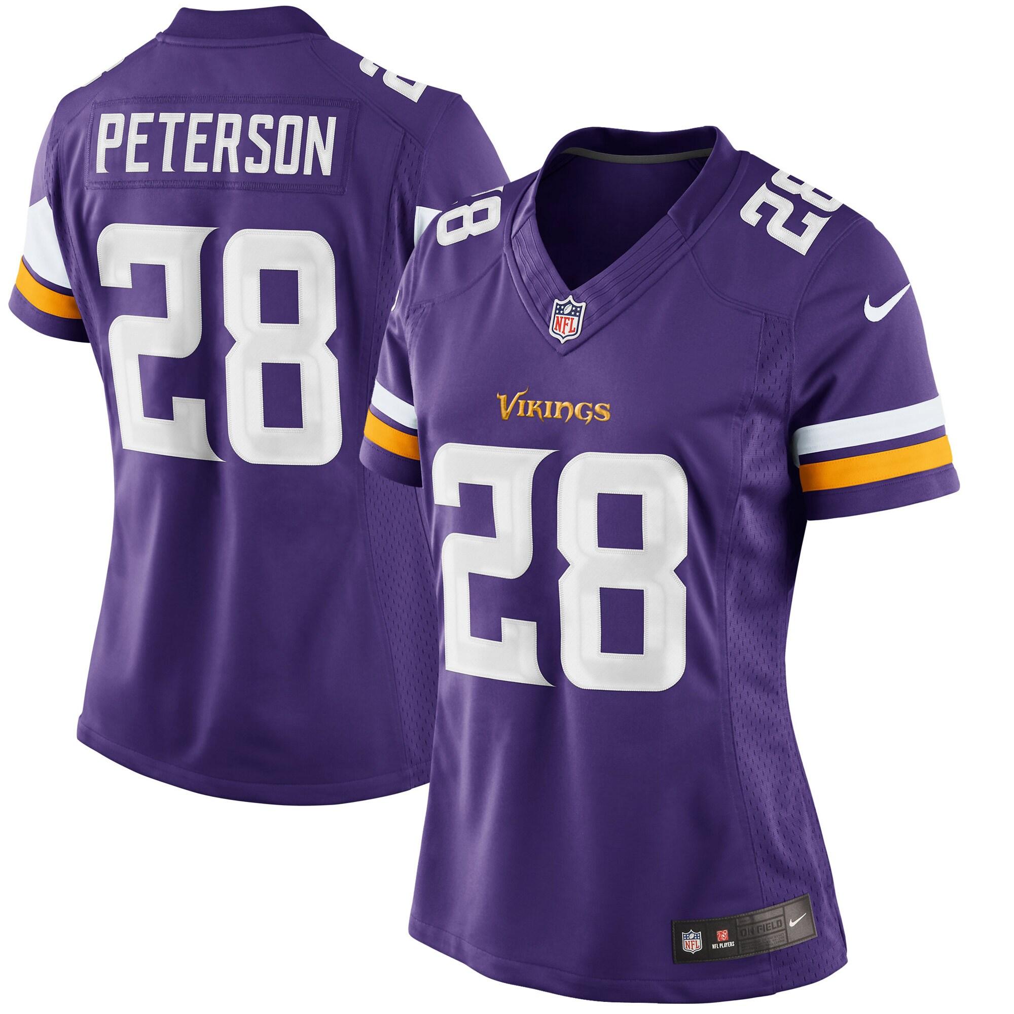 Adrian Peterson Minnesota Vikings Nike Women's Limited Jersey - Purple