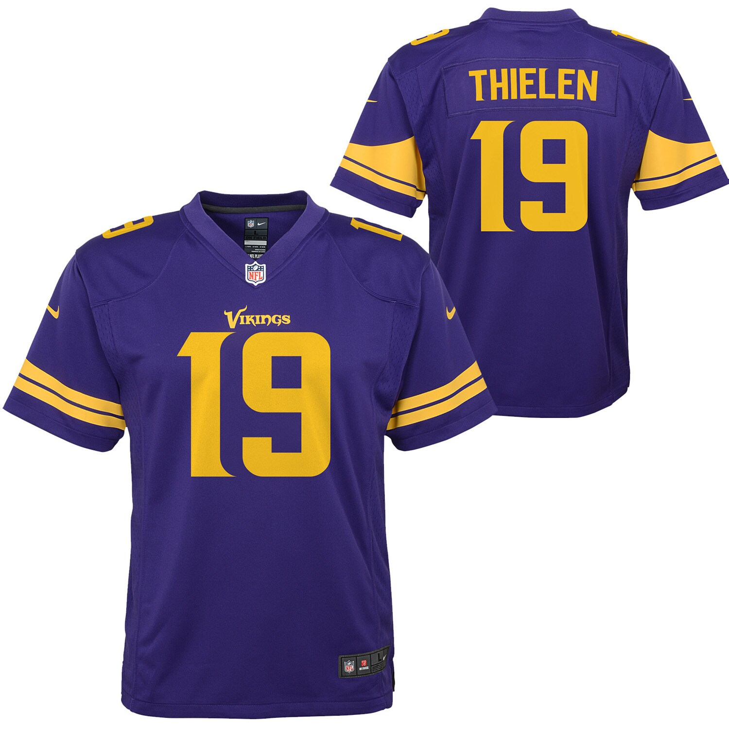 Adam Thielen Minnesota Vikings Nike Youth Color Rush Alternate Player Game Jersey - Purple