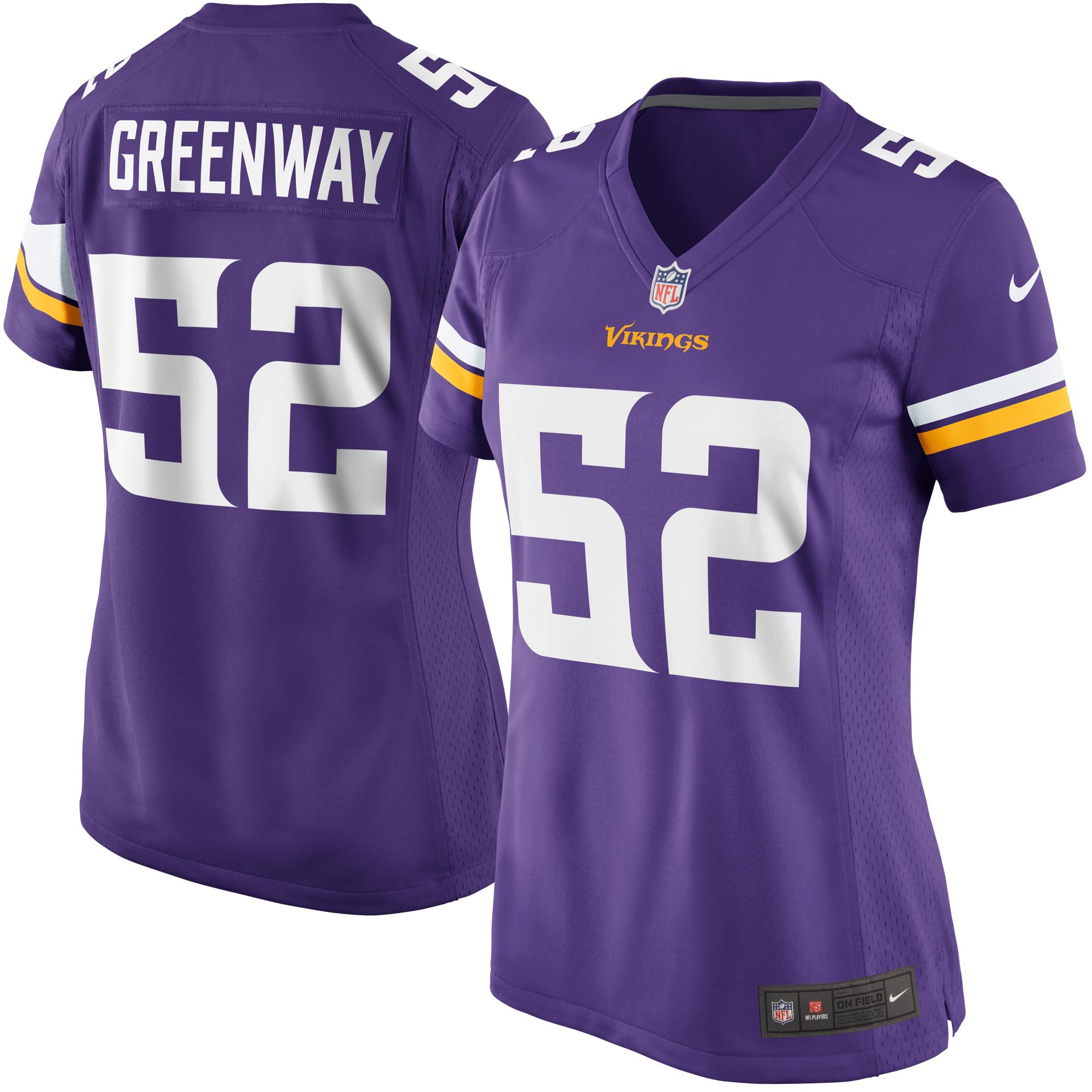 Chad Greenway Minnesota Vikings Nike Women's Game Jersey - Purple