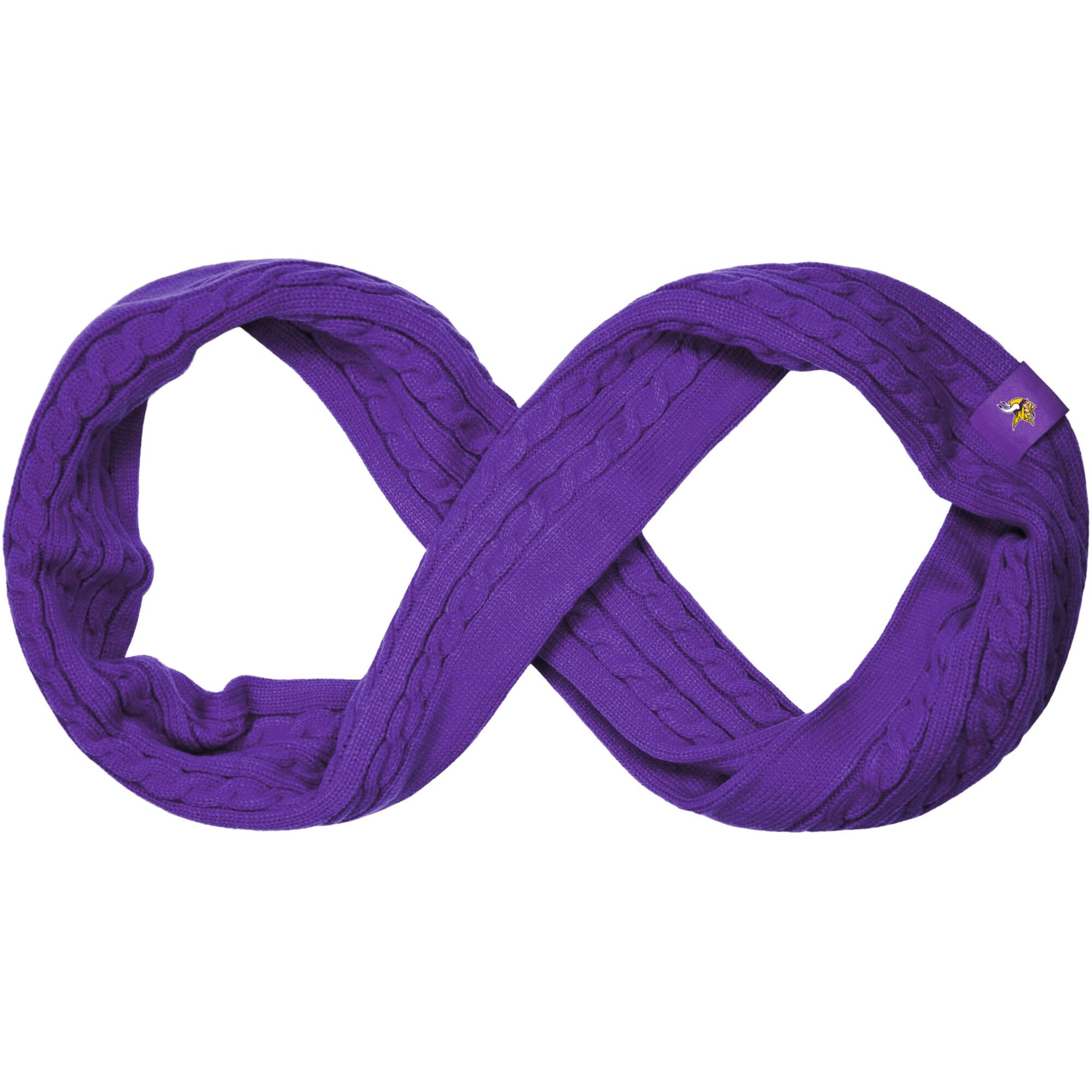 Minnesota Vikings Women's Cable Knit Infinity Scarf - Purple