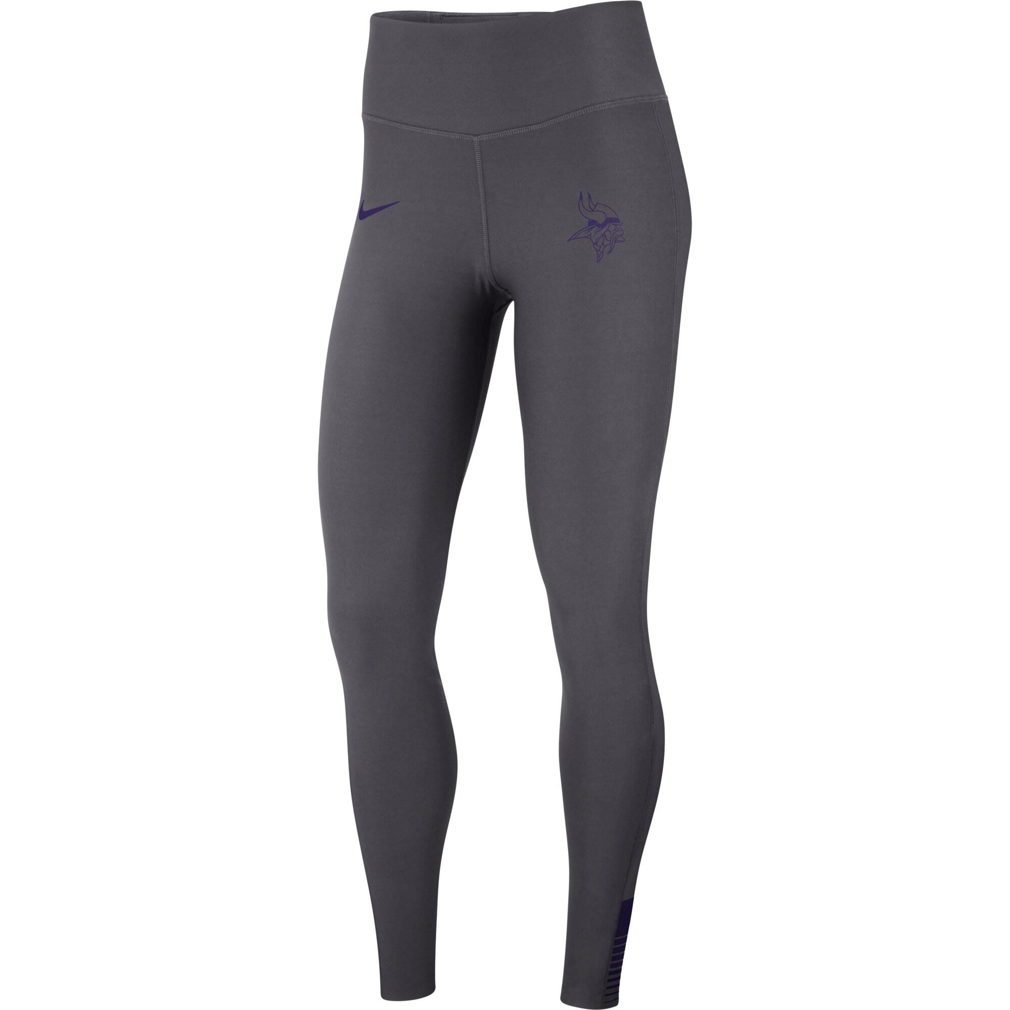 Minnesota Vikings Nike Women's Power Sculpt Leggings - Gray