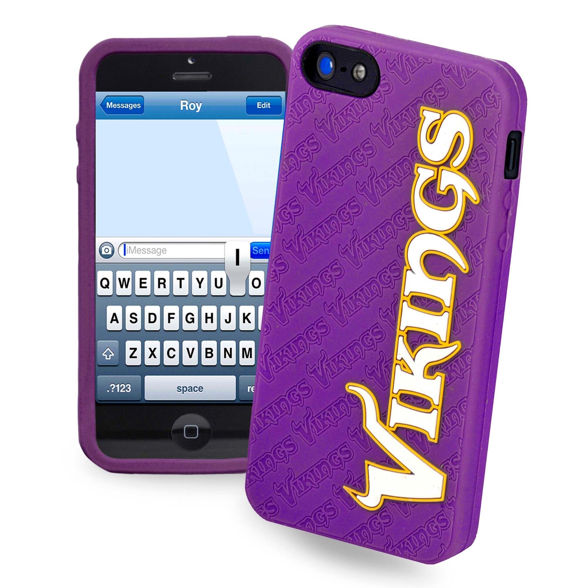 Minnesota Vikings Silicone iPhone 5 Cover - Purple