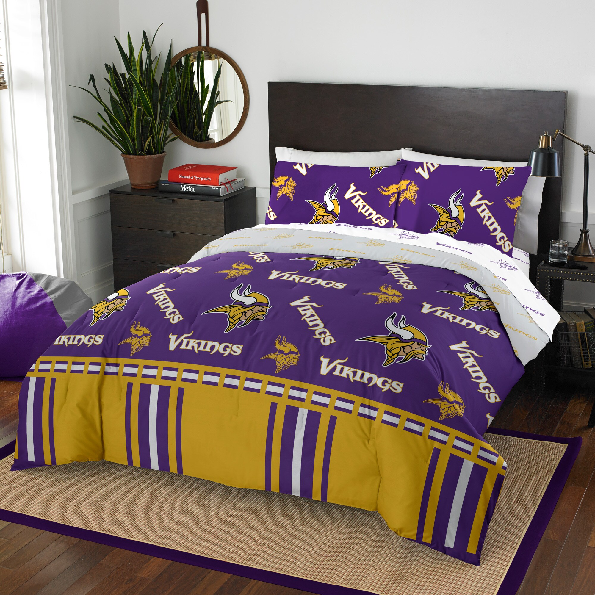 Minnesota Vikings The Northwest Company 5-Piece Queen Bed in a Bag Set