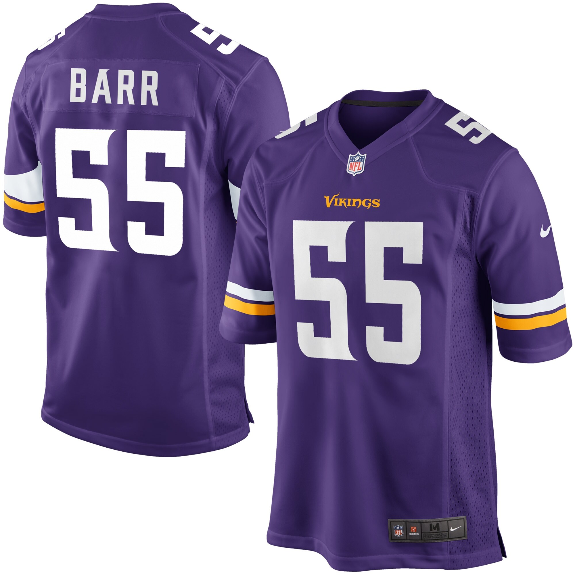 Anthony Barr Minnesota Vikings Nike Game Player Jersey - Purple