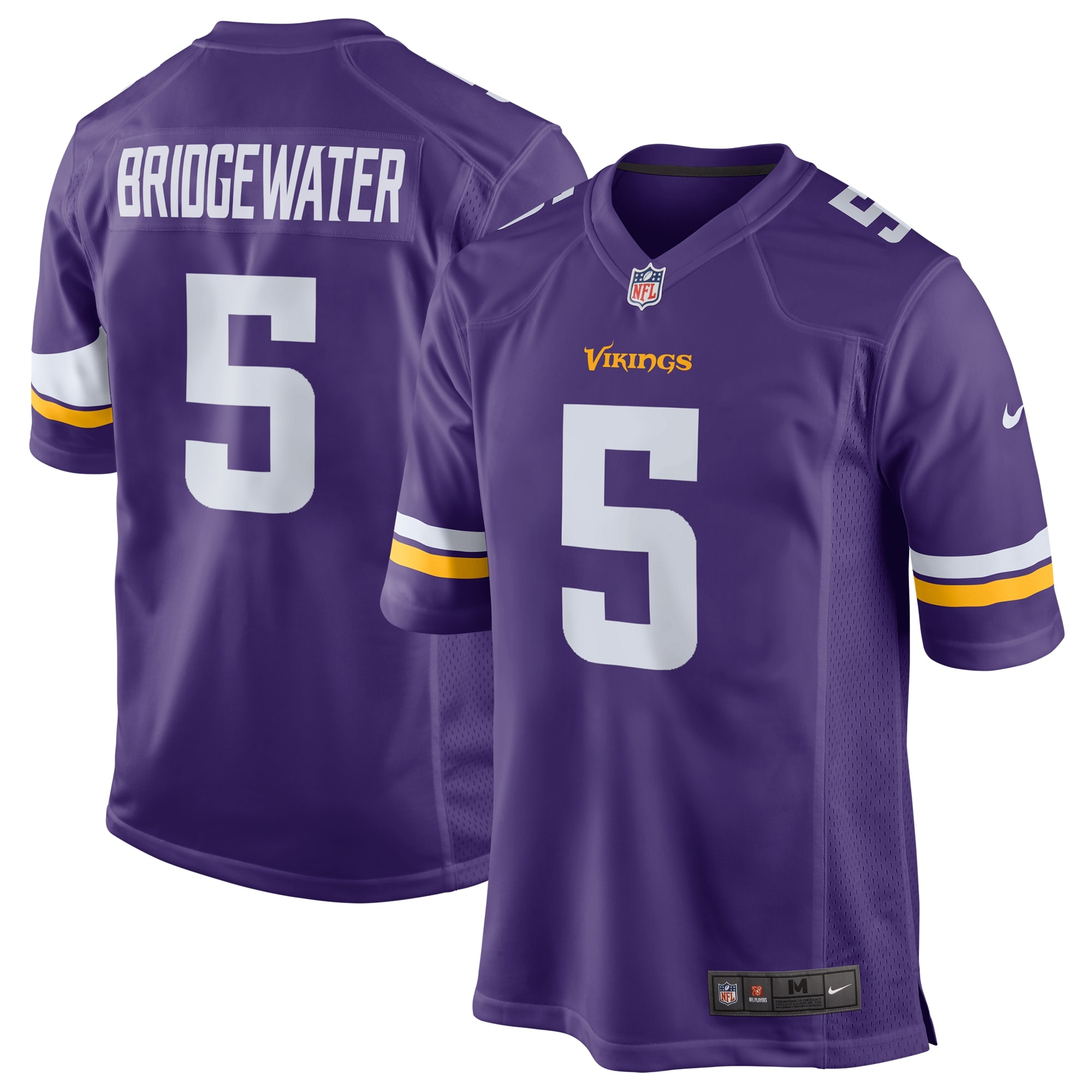 Teddy Bridgewater Minnesota Vikings Nike Game Jersey - Purple