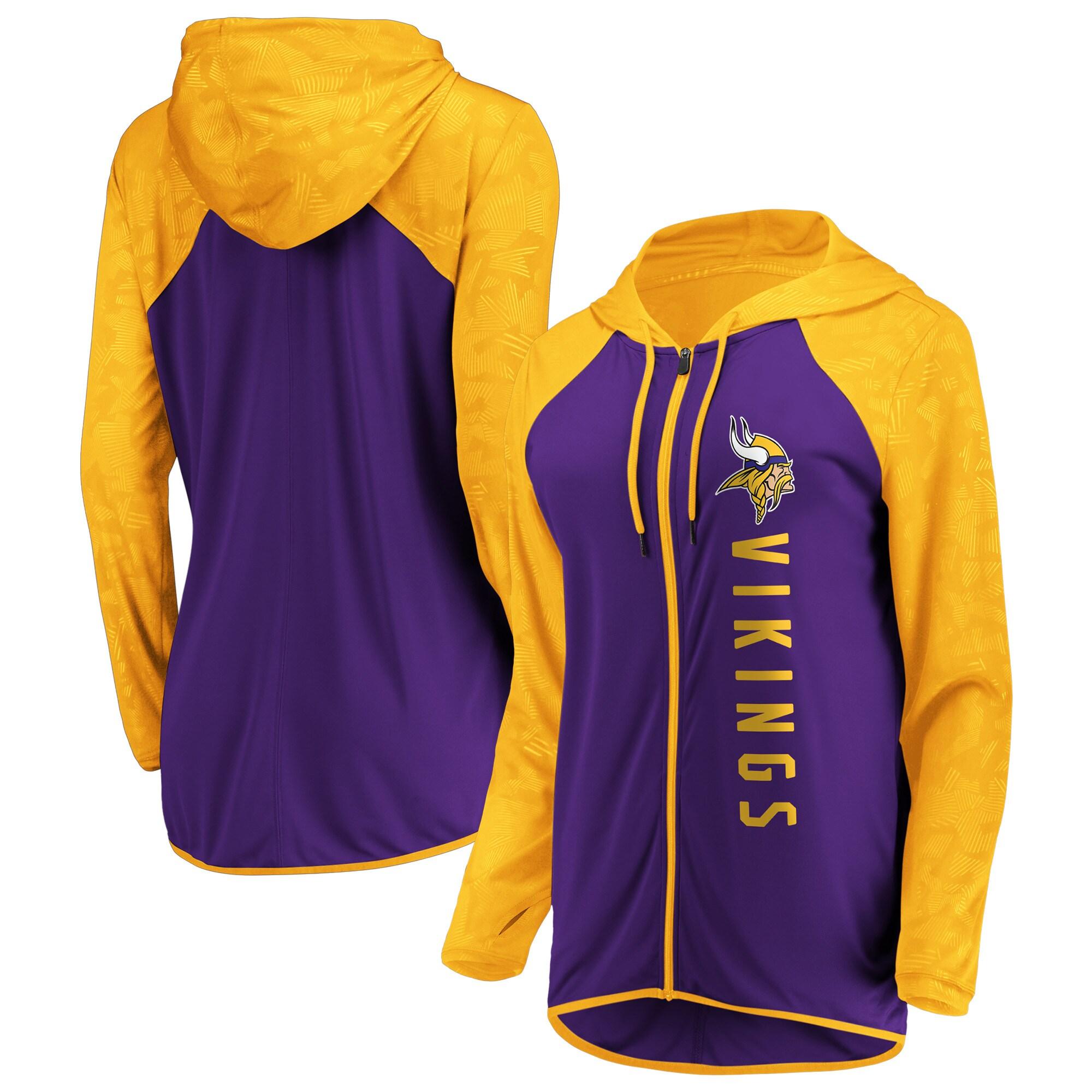 Minnesota Vikings Fanatics Branded Women's Forever Fan Full-Zip Hoodie - Purple/Gold