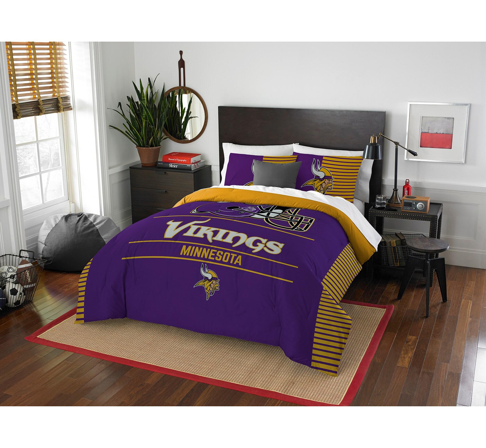 Minnesota Vikings The Northwest Company NFL Draft Full/Queen Comforter Set