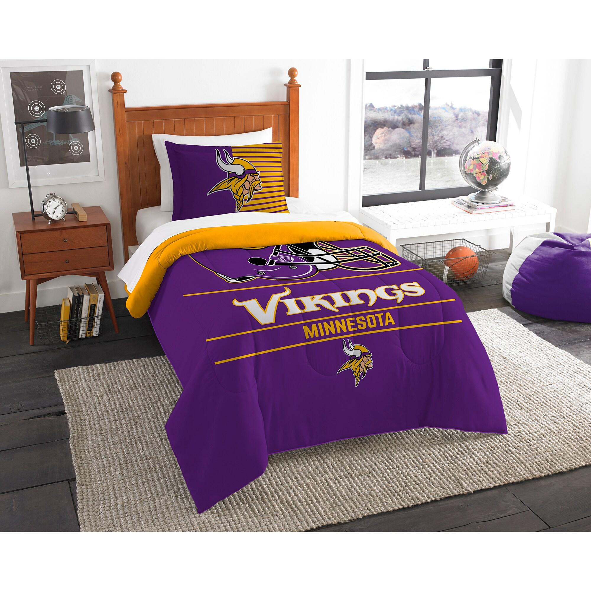 Minnesota Vikings The Northwest Company NFL Draft Twin Comforter Set