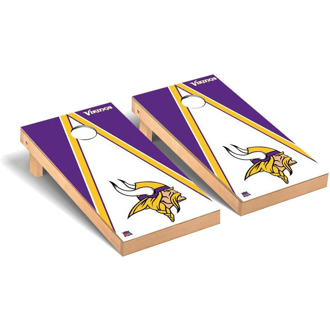 Minnesota Vikings 2' x 4' Triangle Cornhole Board Tailgate Toss Set