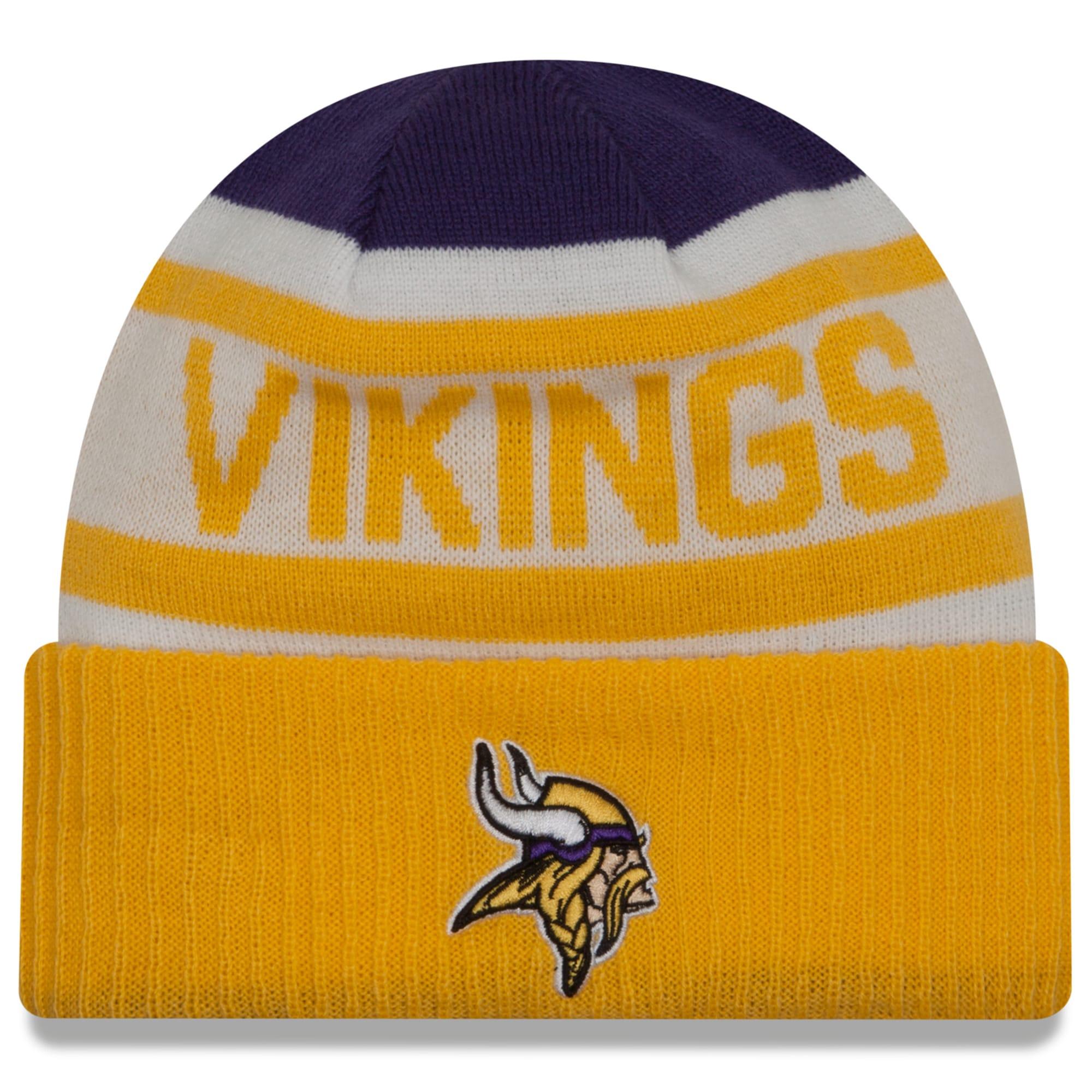 Minnesota Vikings New Era Biggest Fan 2.0 Cuffed Knit Hat - Purple/Gold