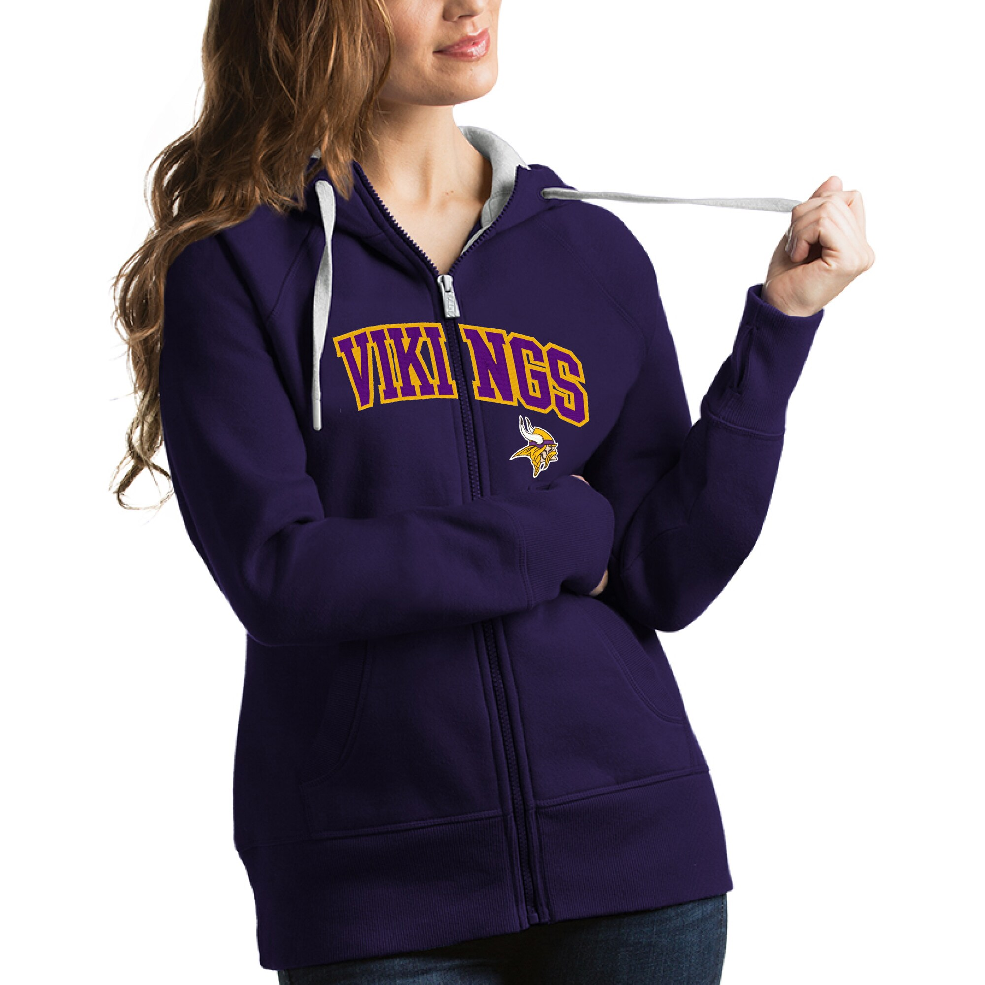 Minnesota Vikings Antigua Women's Victory Full-Zip Hoodie - Purple
