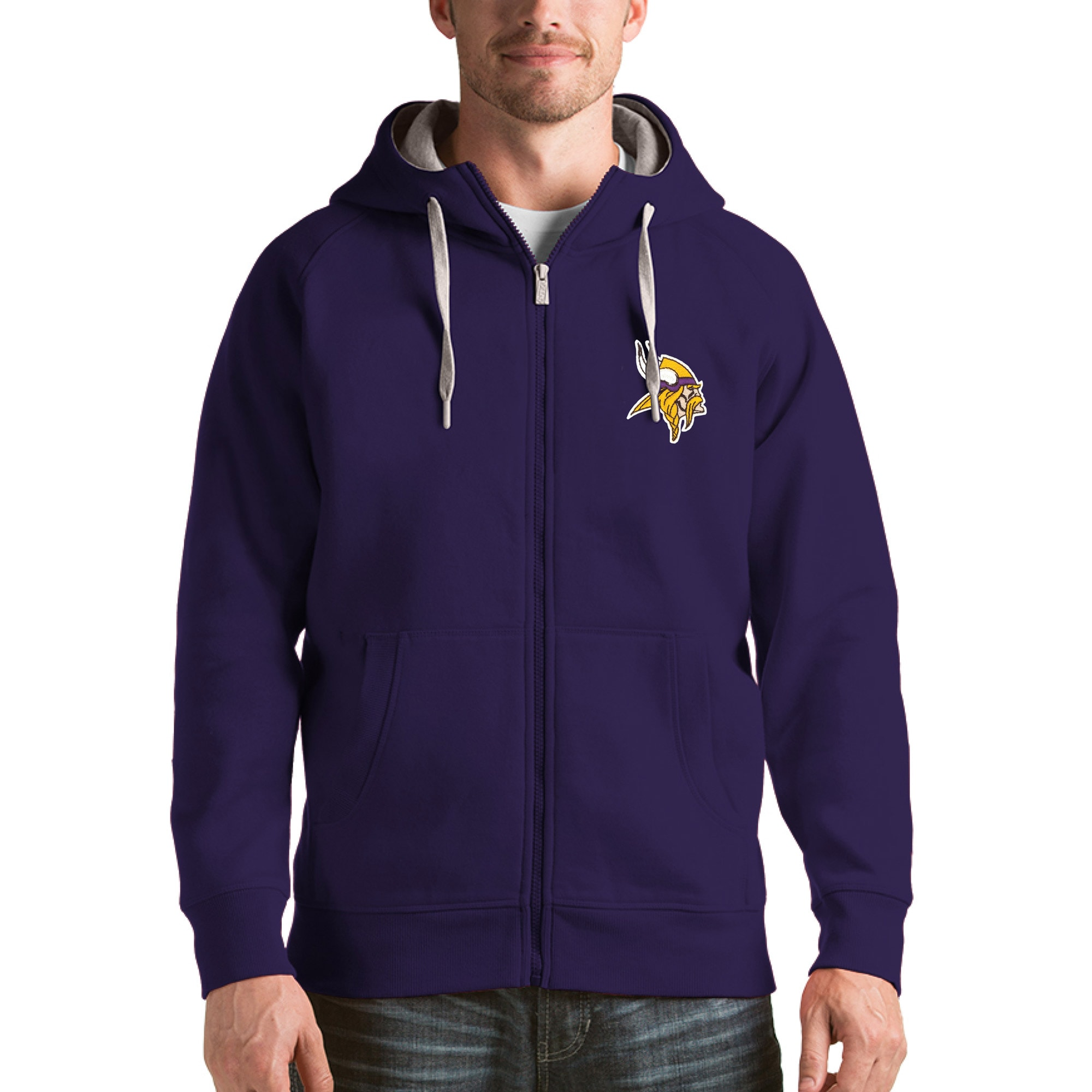 Minnesota Vikings Antigua Victory Full-Zip Hoodie - Purple