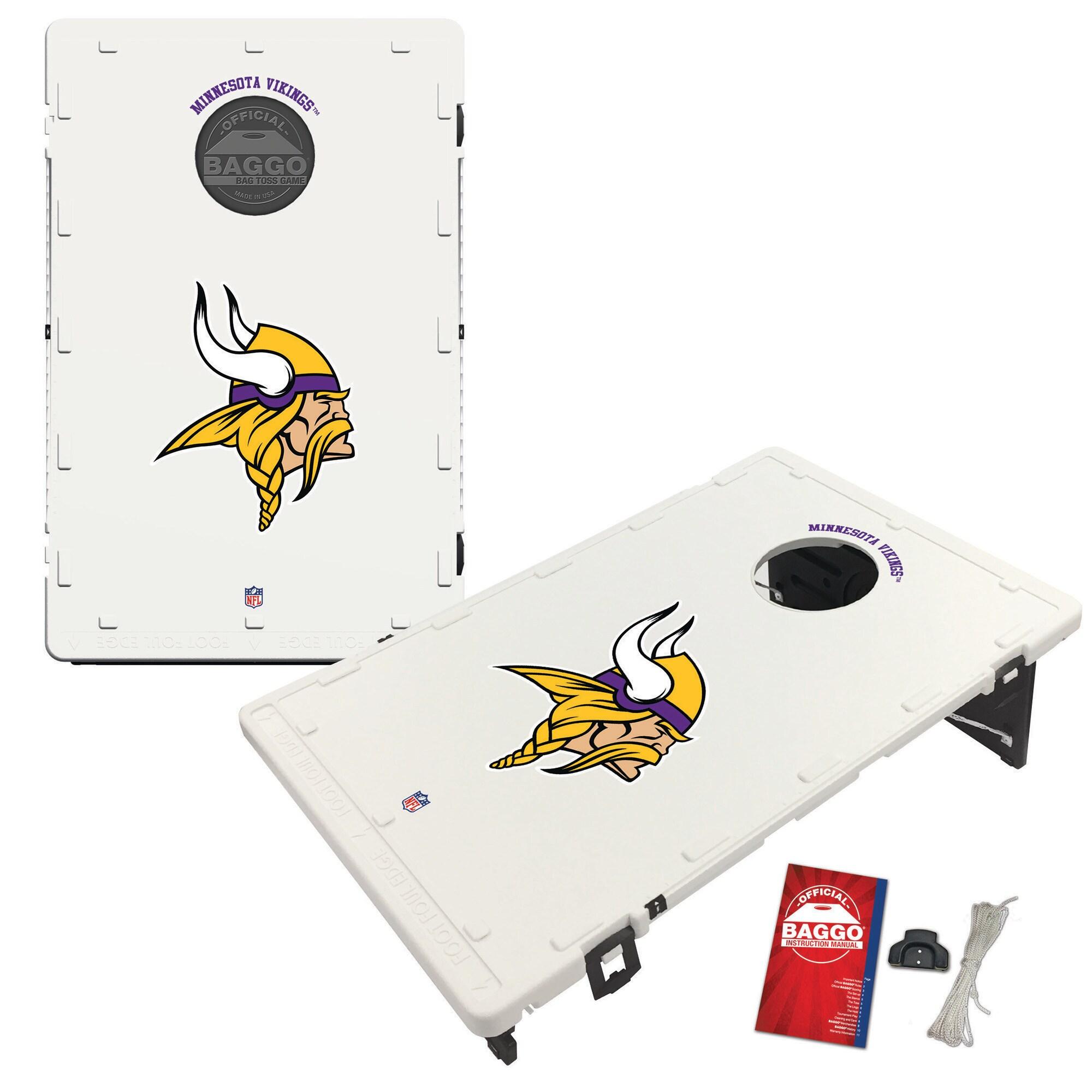 Minnesota Vikings 2' x 3' Classic Design BAGGO Cornhole Board Tailgate Toss Set