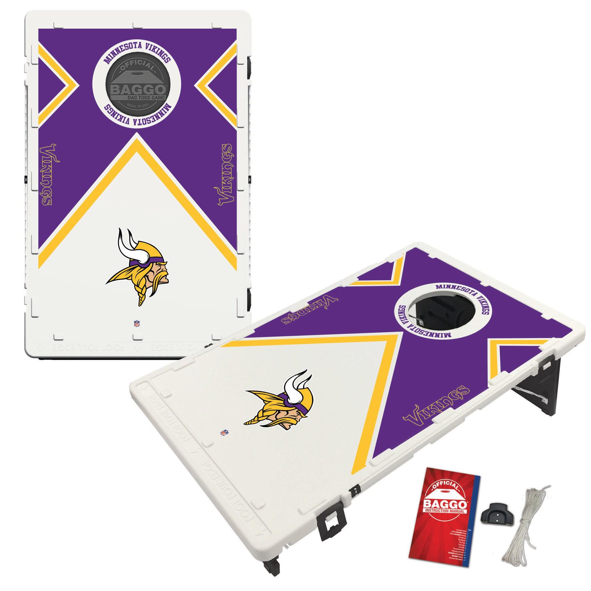 Minnesota Vikings 2' x 3' BAGGO Vintage Cornhole Board Tailgate Toss Set