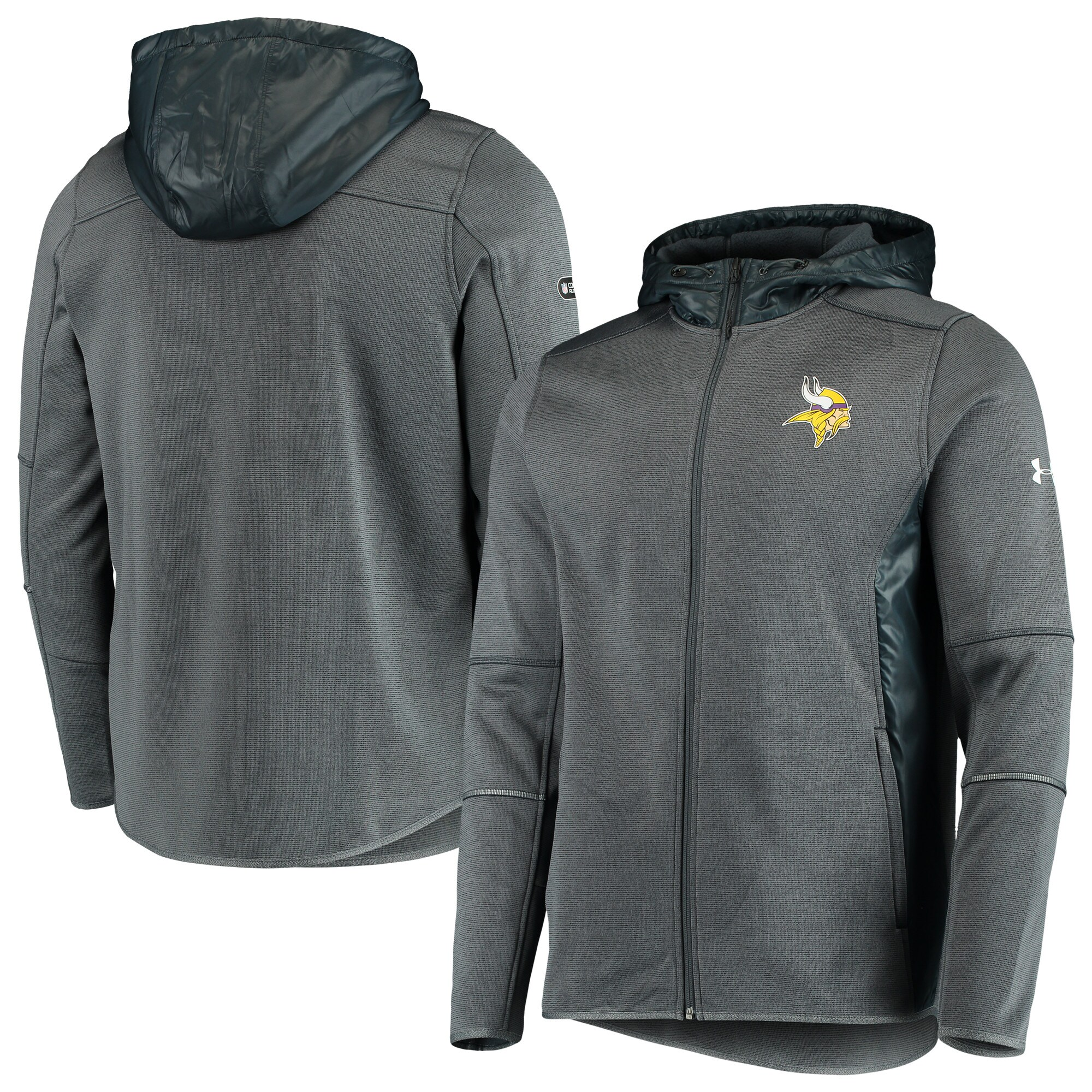 Minnesota Vikings Under Armour Combine Authentic Full-Zip Swacket - Charcoal