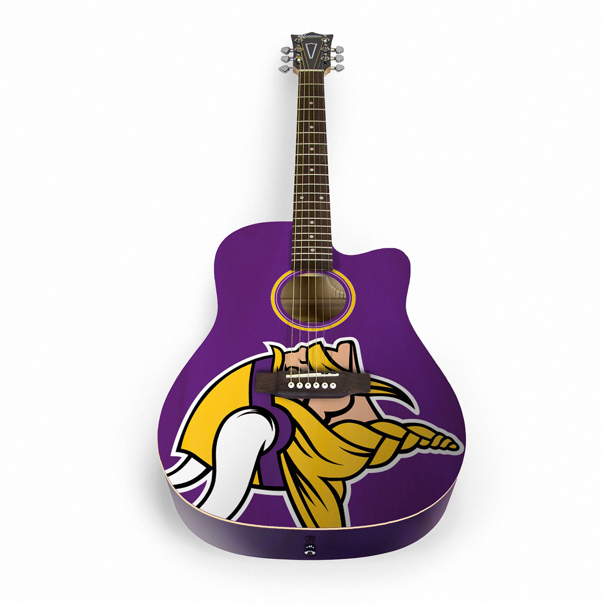 Minnesota Vikings Woodrow Acoustic Guitar
