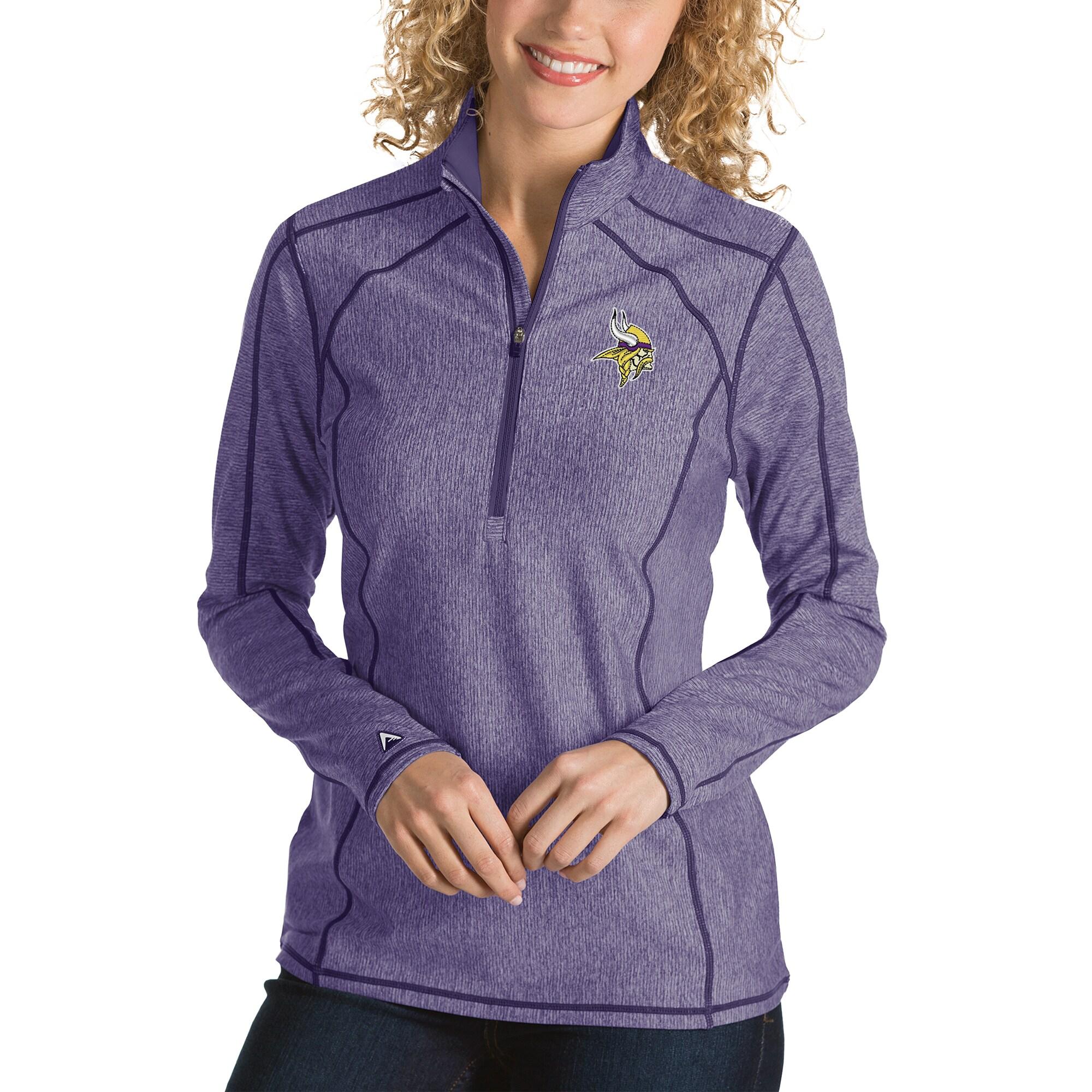 Minnesota Vikings Antigua Women's Tempo Desert Dry Quarter-Zip Jacket - Heather Purple