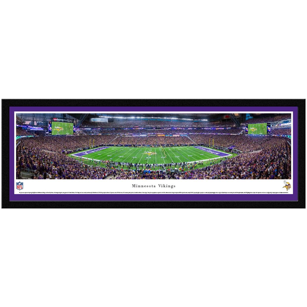 "Minnesota Vikings 42"" x 15.5"" Select Frame Panoramic Photo"