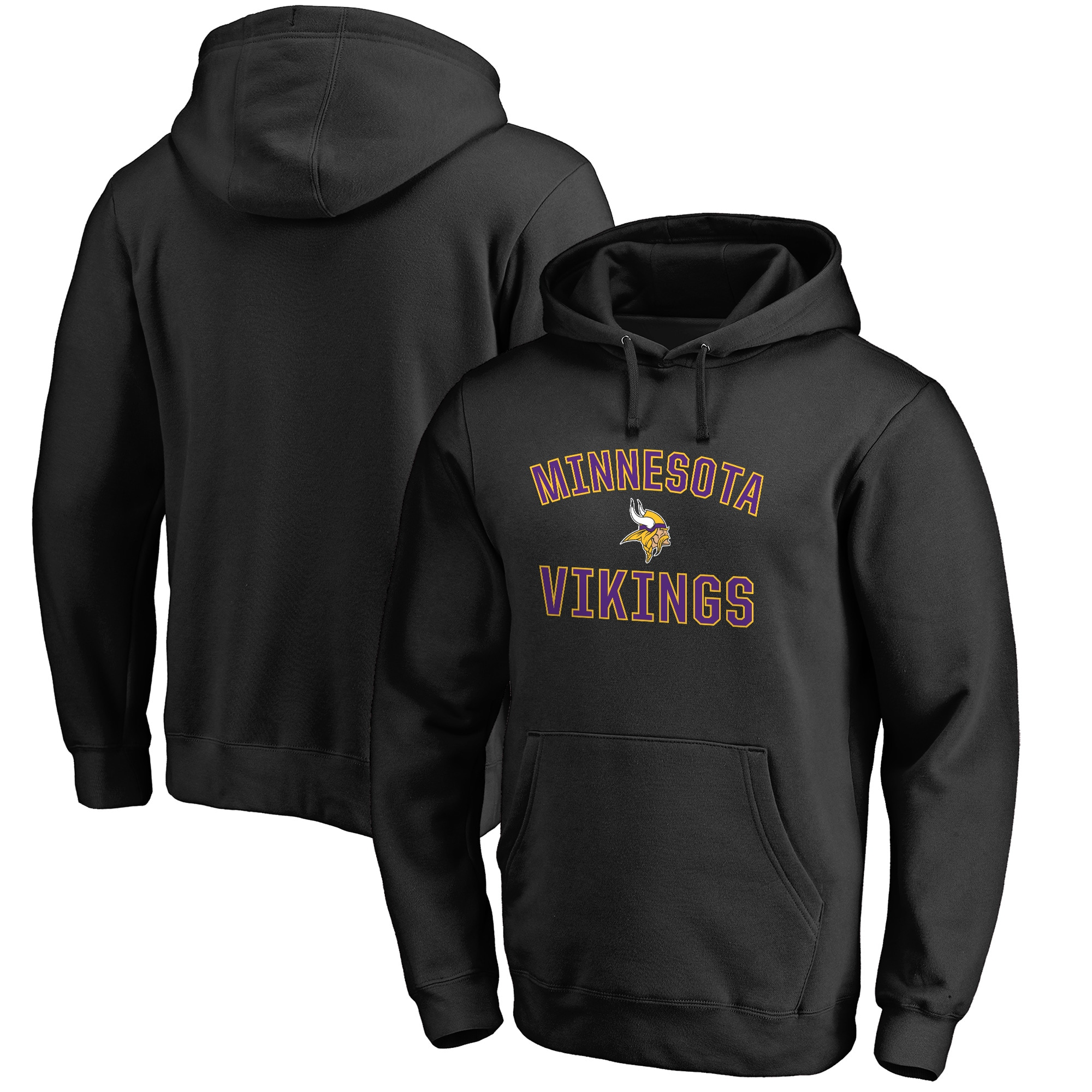 Minnesota Vikings NFL Pro Line Big & Tall Victory Arch Pullover Hoodie - Black
