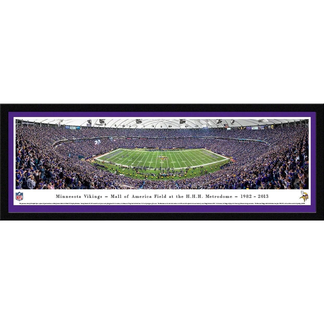 "Minnesota Vikings 16"" x 42"" Select Frame Panoramic Photo"