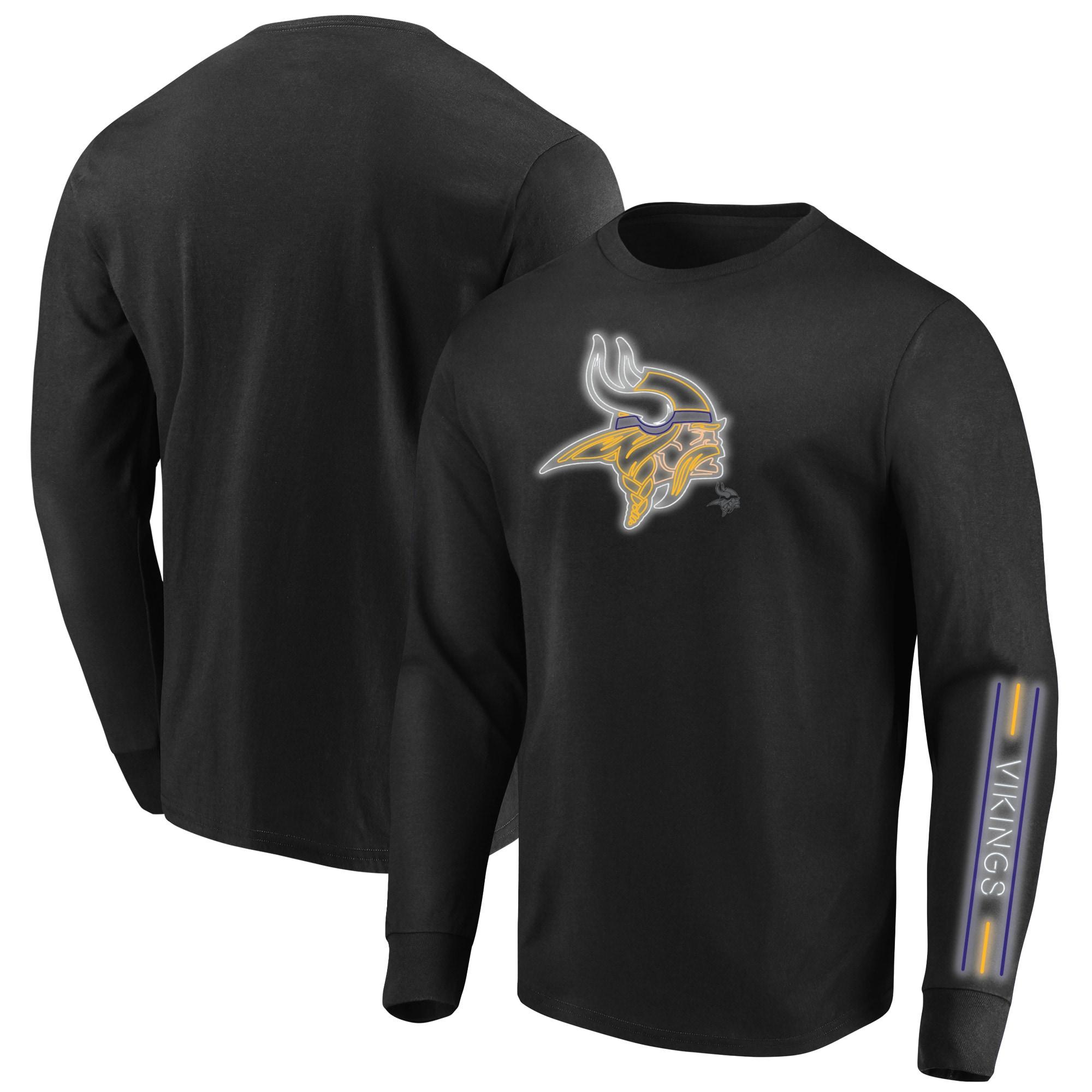 Minnesota Vikings Majestic Big & Tall Startling Success Long Sleeve T-Shirt - Black