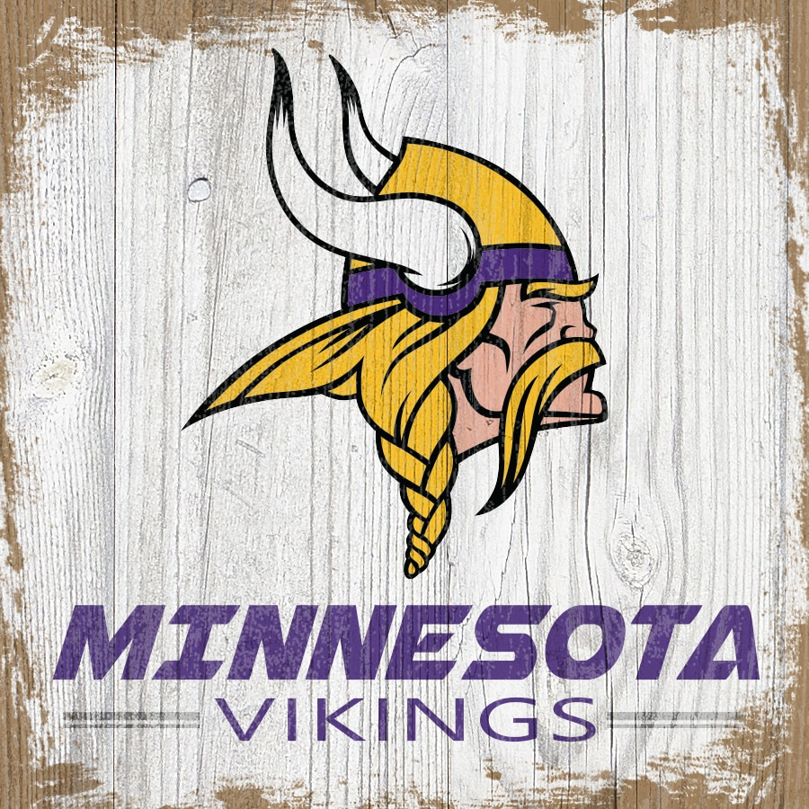 Minnesota Vikings 6'' x 6'' Team Logo Block