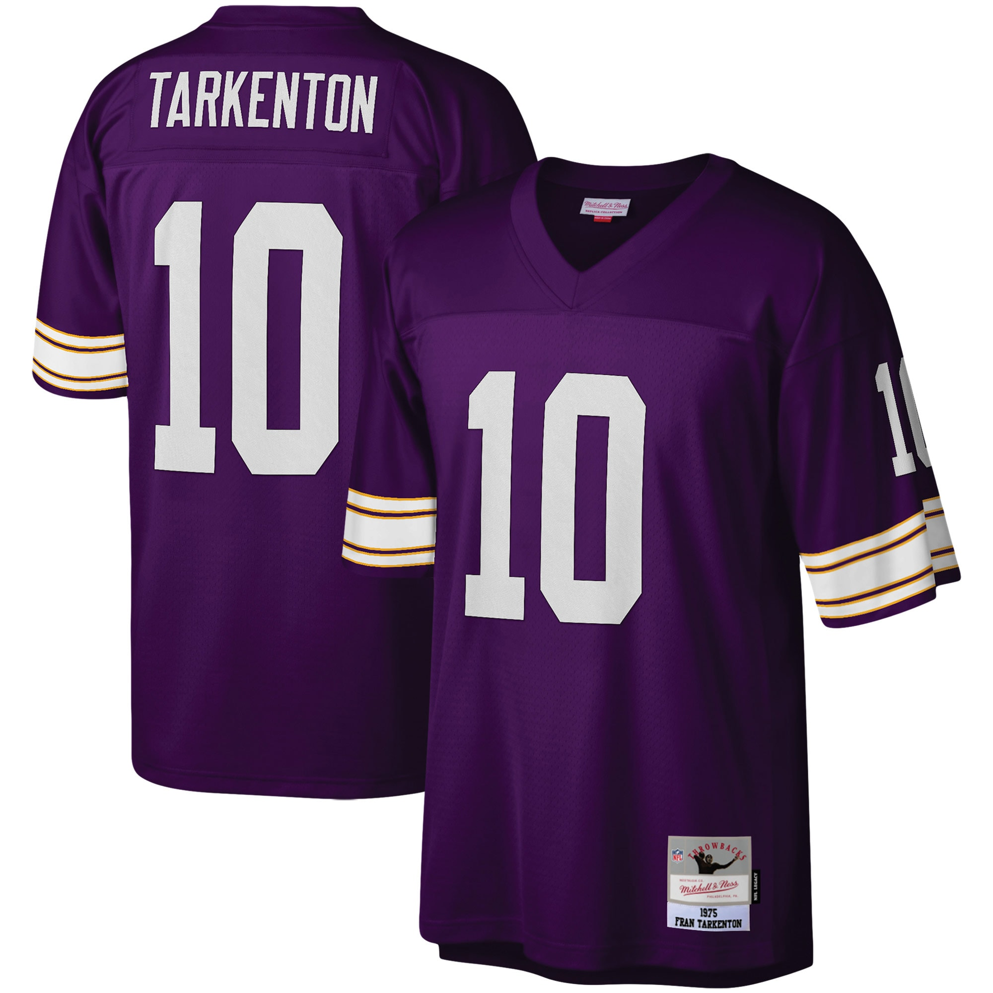 Fran Tarkenton Minnesota Vikings Mitchell & Ness Legacy Replica Jersey - Purple