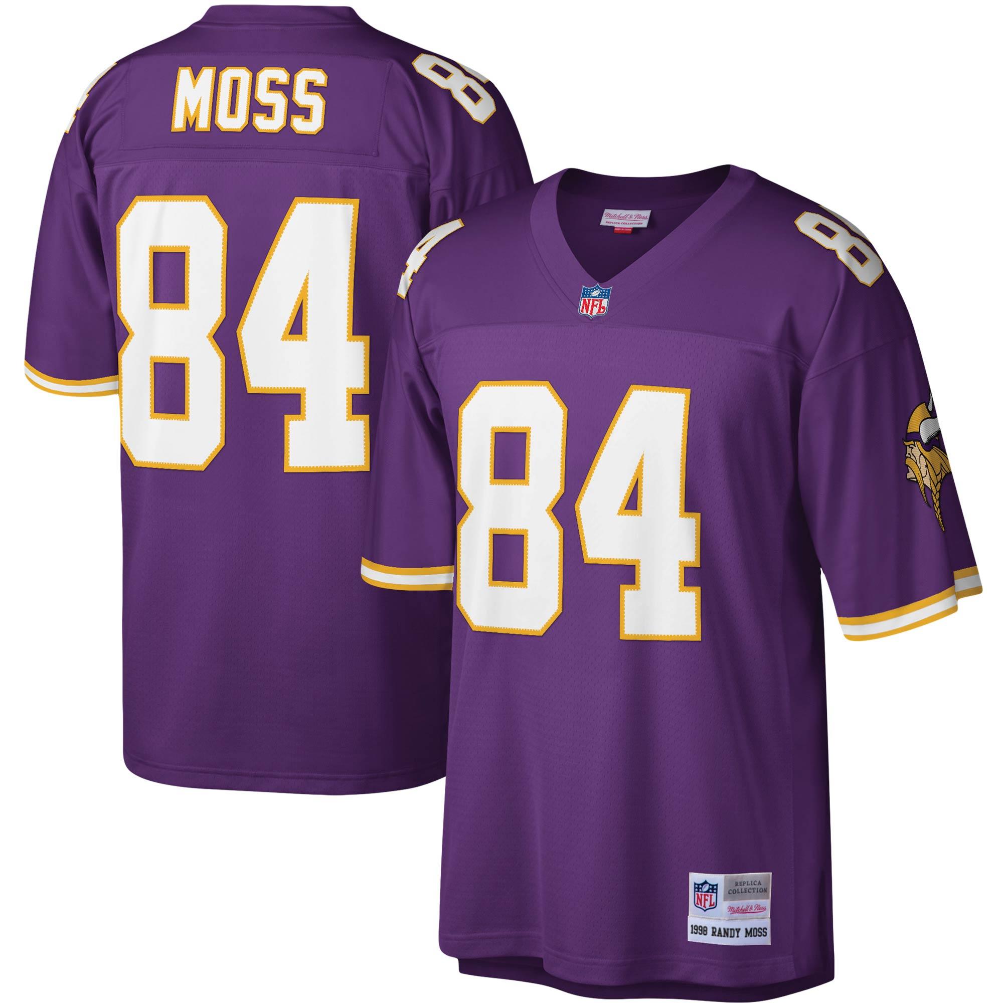 Randy Moss Minnesota Vikings Mitchell & Ness Legacy Replica Jersey - Purple