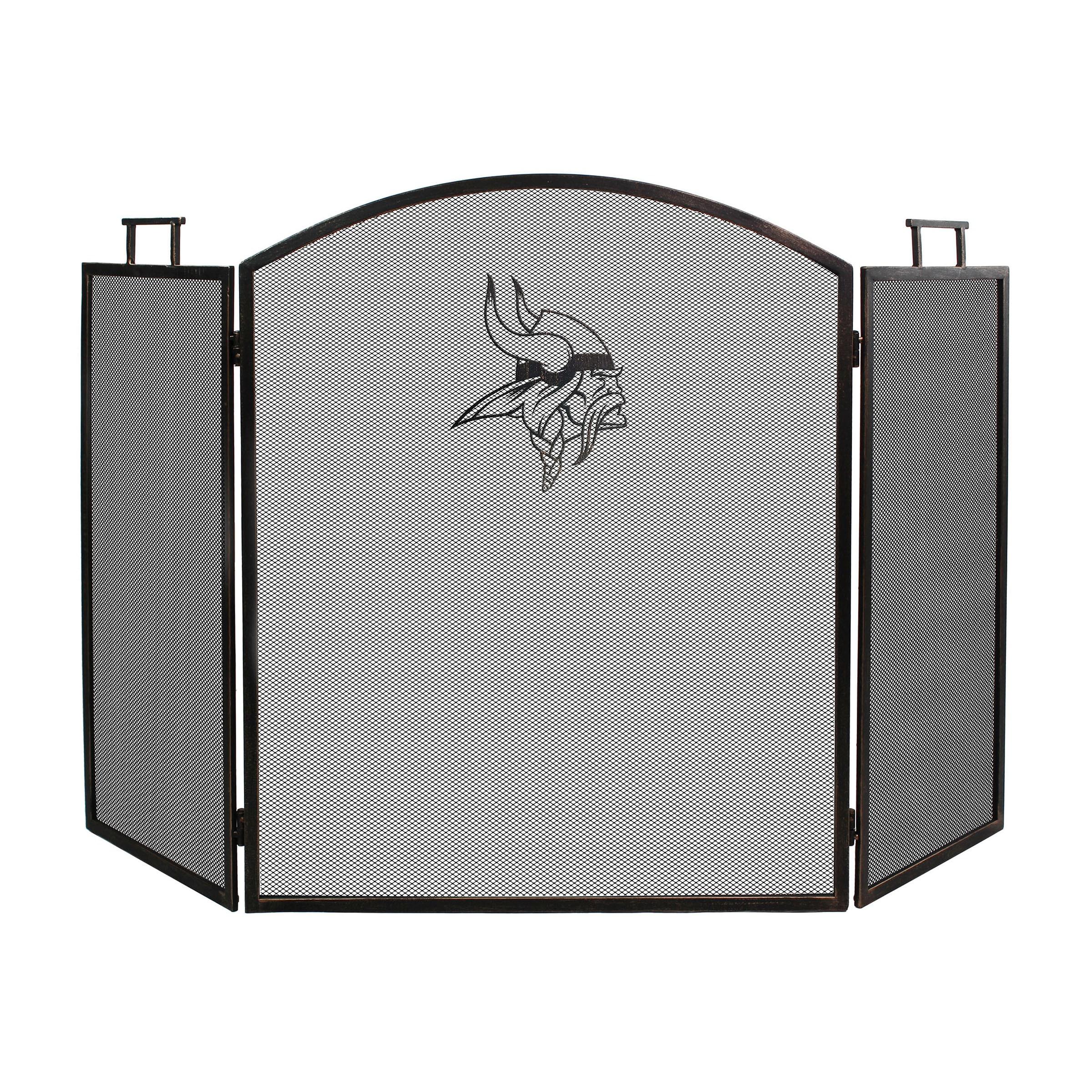 Minnesota Vikings Imperial Fireplace Screen - Brown