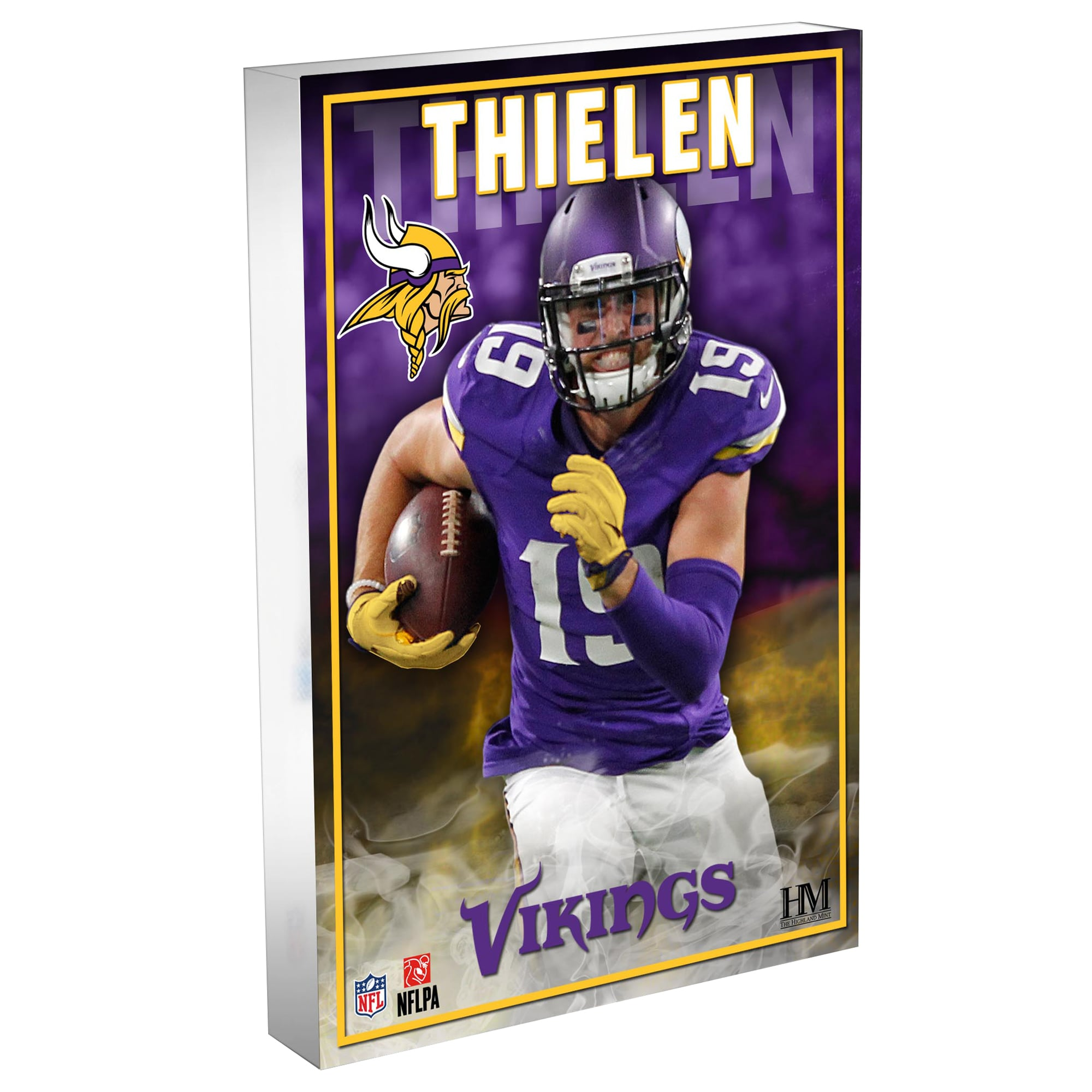 Adam Thielen Minnesota Vikings Highland Mint 4'' x 6'' 3D Acrylic Blockart
