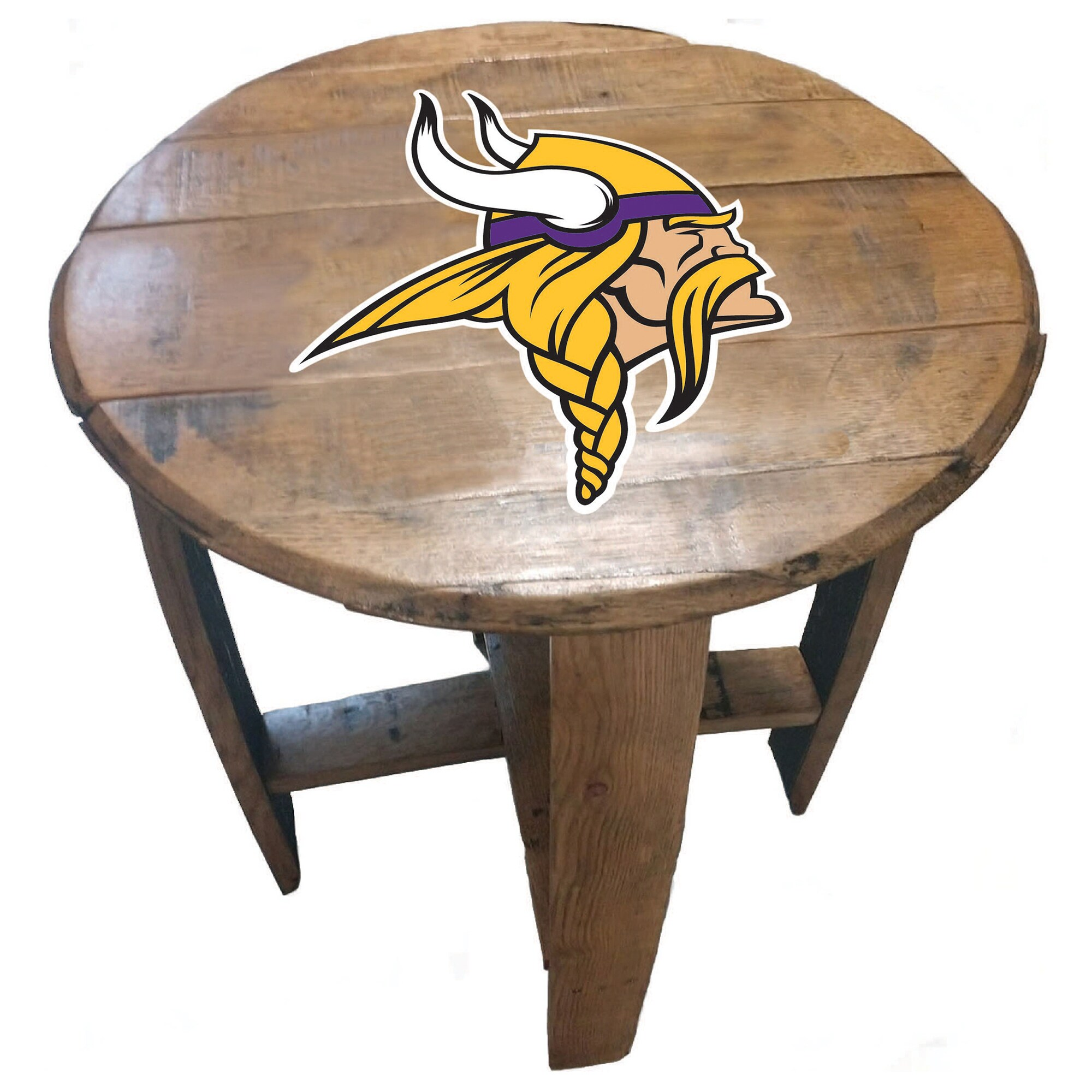 Minnesota Vikings Imperial Oak Barrel Table