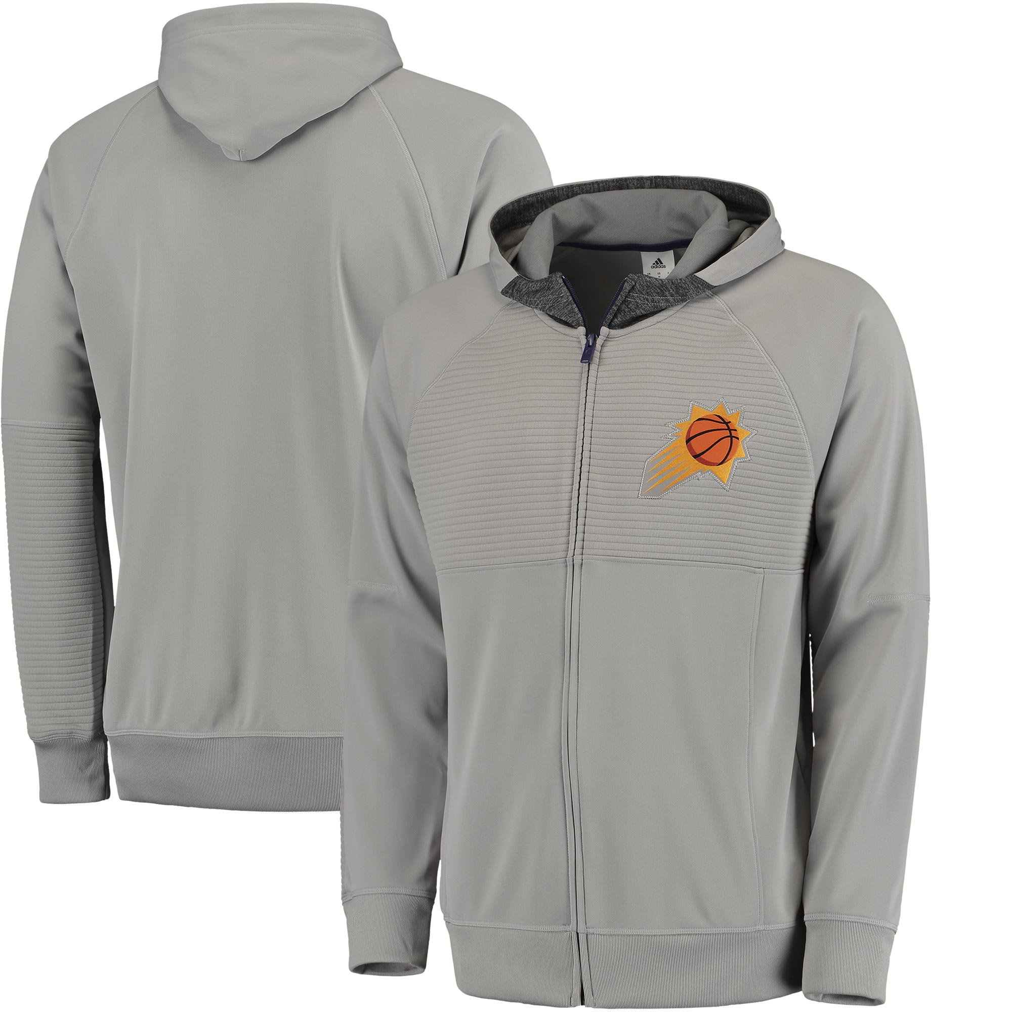 Phoenix Suns adidas 2016 Pre-Game Full-Zip Hooded Jacket - Gray