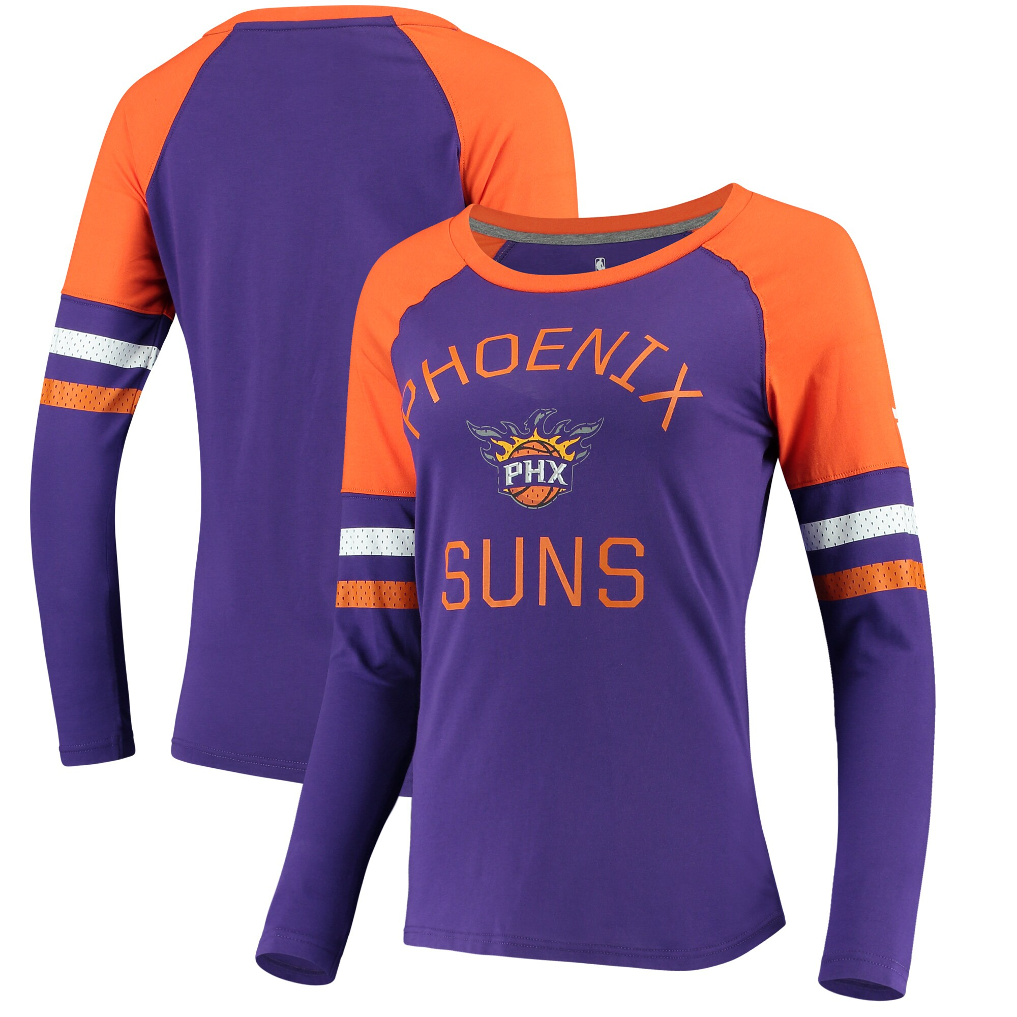 Phoenix Suns Fanatics Branded Women's Iconic Long Sleeve T-Shirt - Purple/Orange