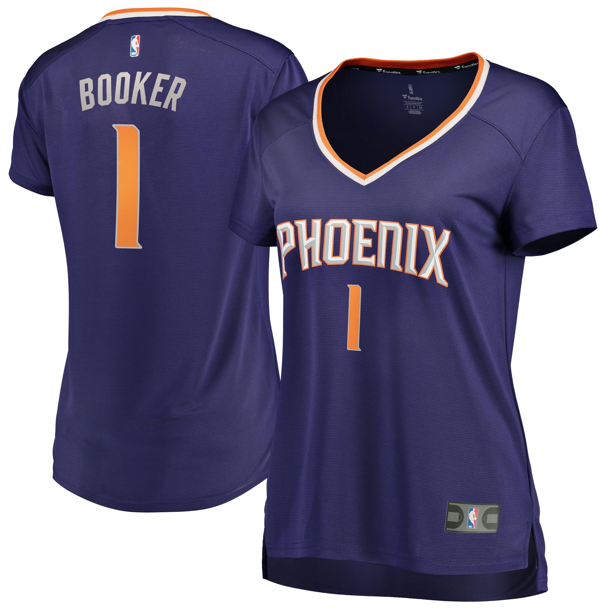 Devin Booker Phoenix Suns Fanatics Branded Women's Fast Break Replica Jersey Purple - Icon Edition