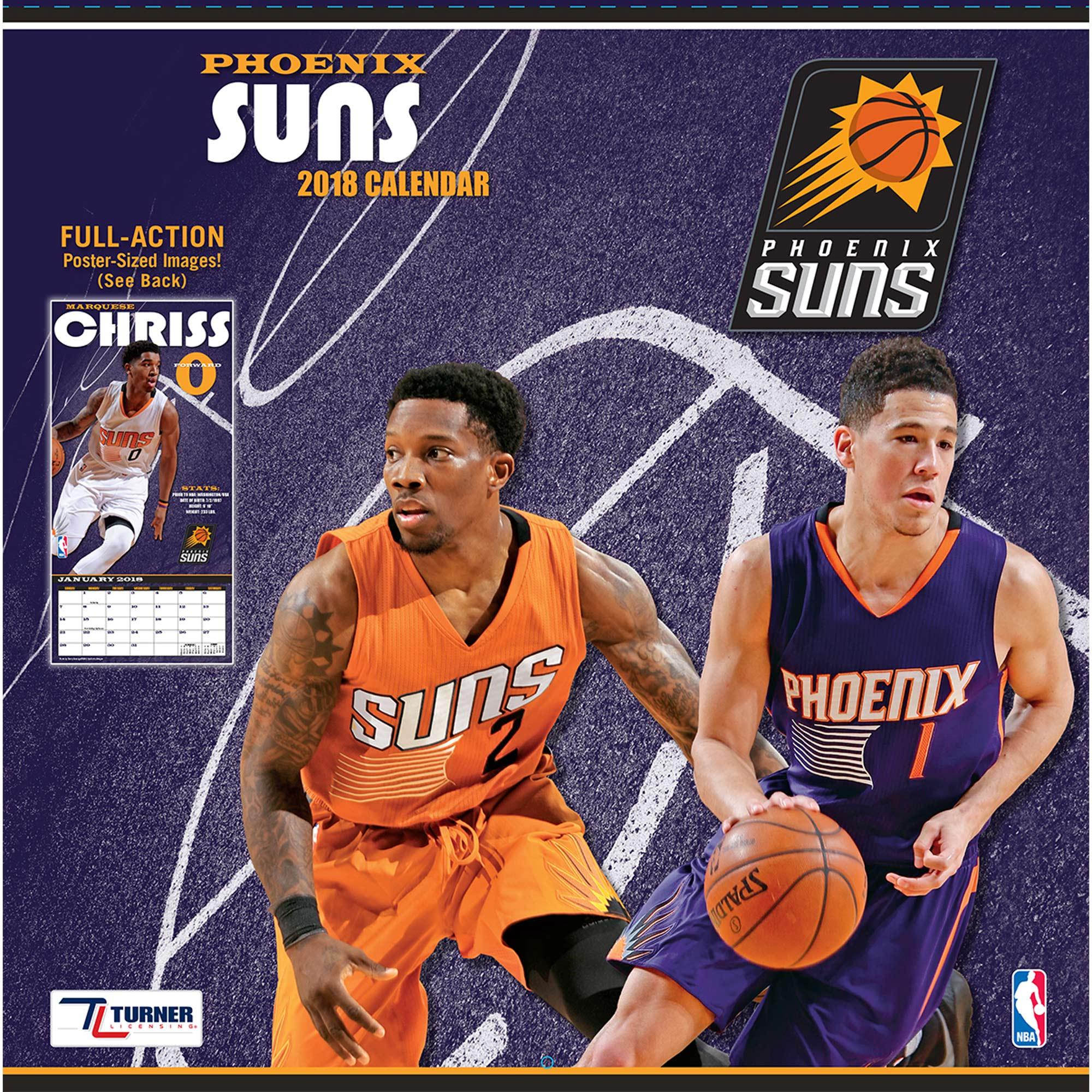 """Phoenix Suns 2018 12"""" x 12"""" Team Wall Calendar"""