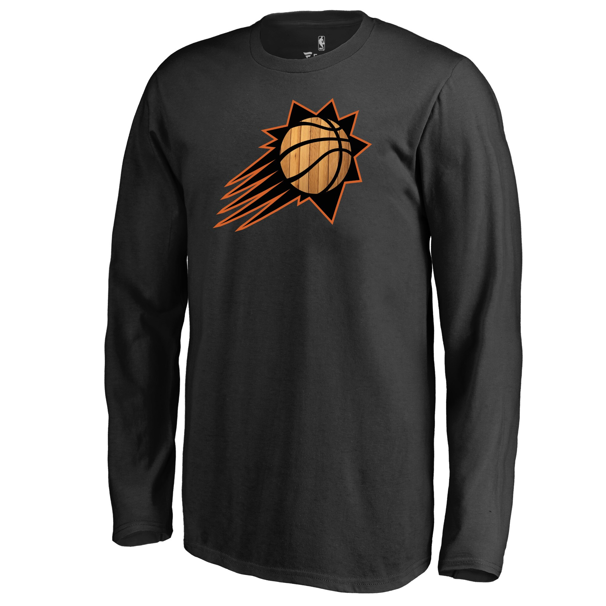 Phoenix Suns Fanatics Branded Youth Hardwood Long Sleeve T-Shirt - Black
