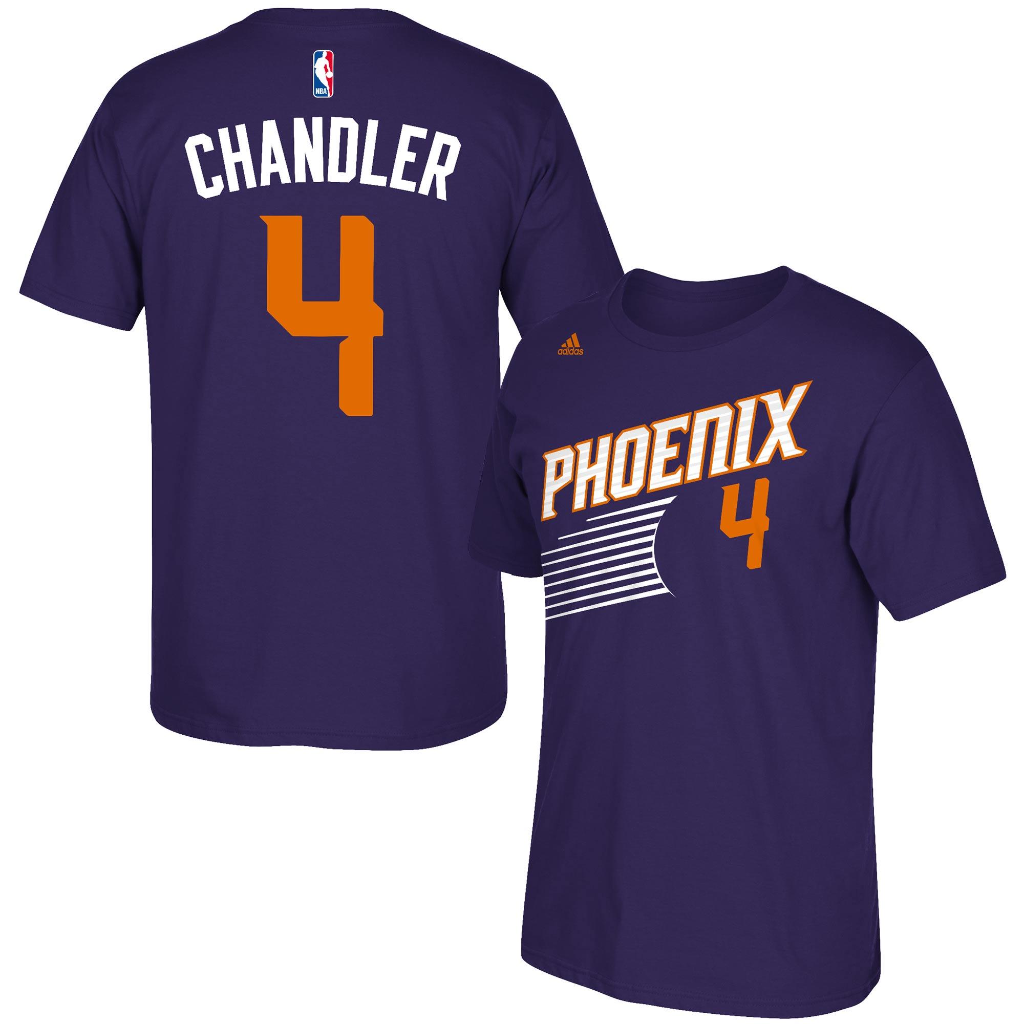 Tyson Chandler Phoenix Suns adidas Net Number T-Shirt - Purple