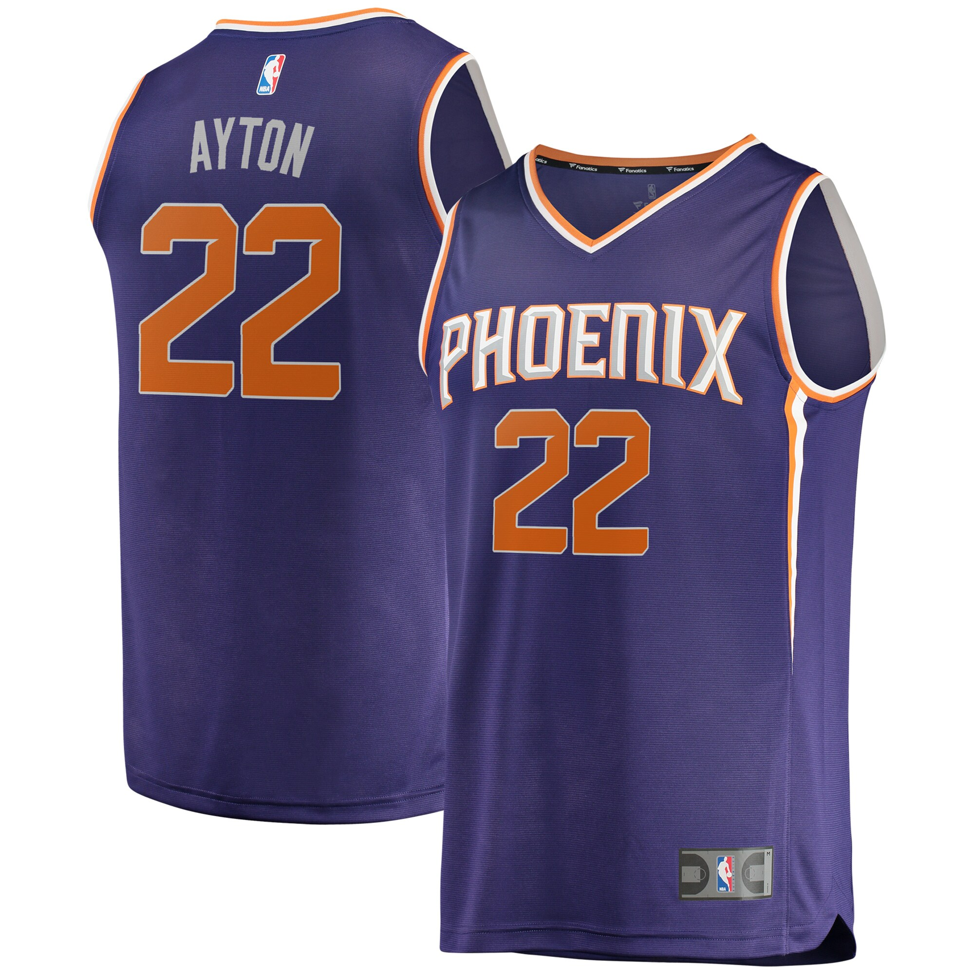 DeAndre Ayton Phoenix Suns Fanatics Branded Fast Break Replica Jersey - Icon Edition - Purple