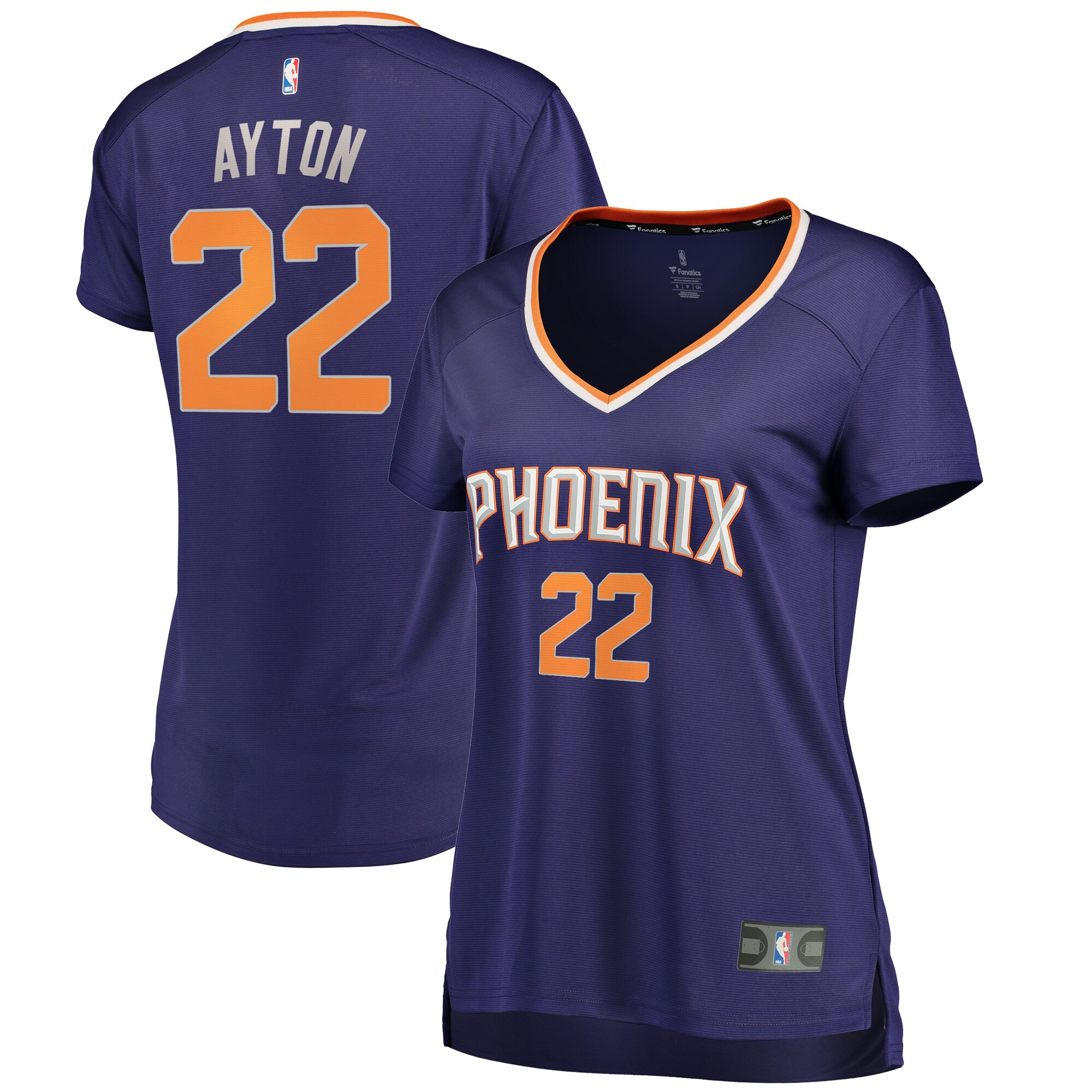 DeAndre Ayton Phoenix Suns Fanatics Branded Women's Fast Break Replica Jersey Purple - Icon Edition