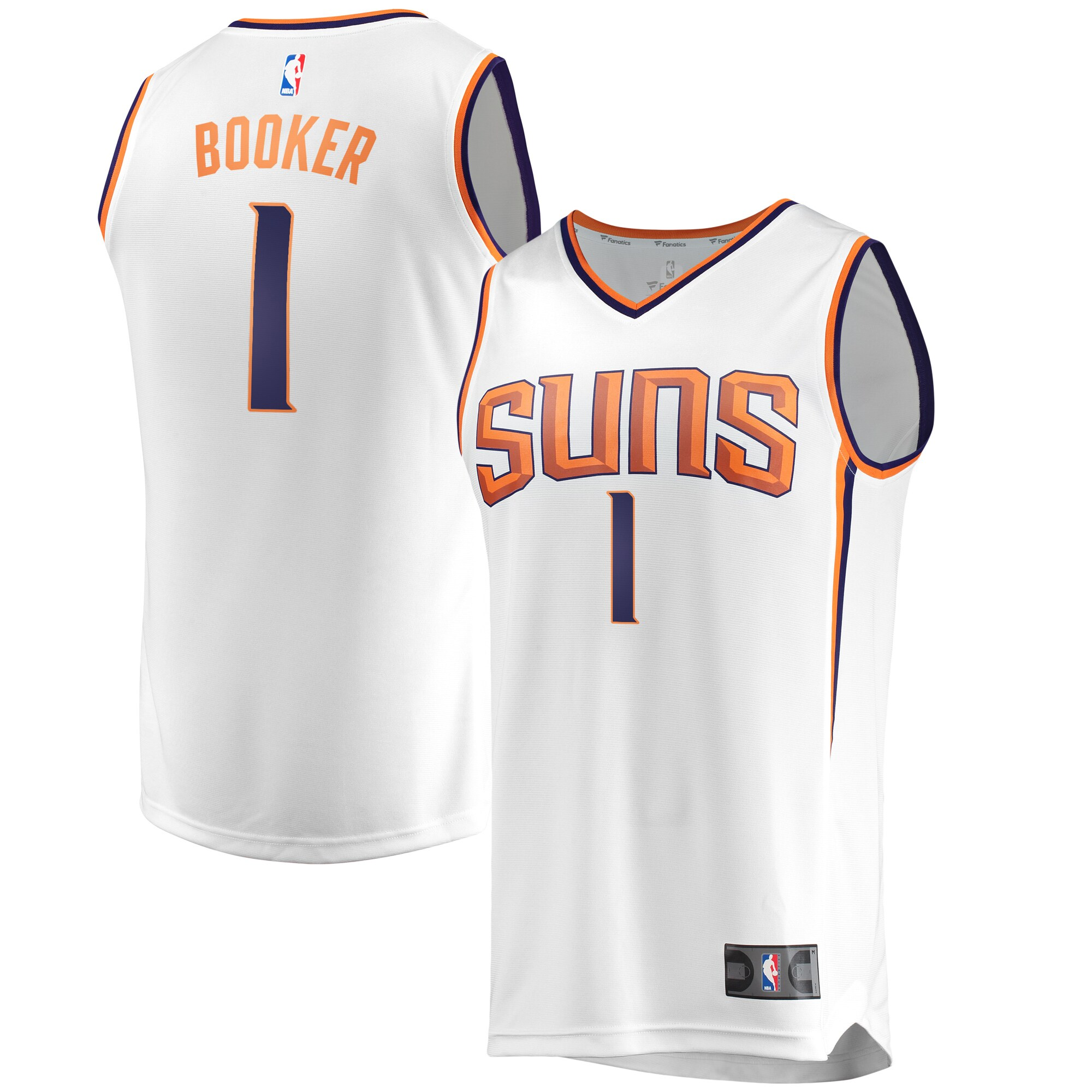 Devin Booker Phoenix Suns Fanatics Branded Fast Break Replica Jersey White - Association Edition