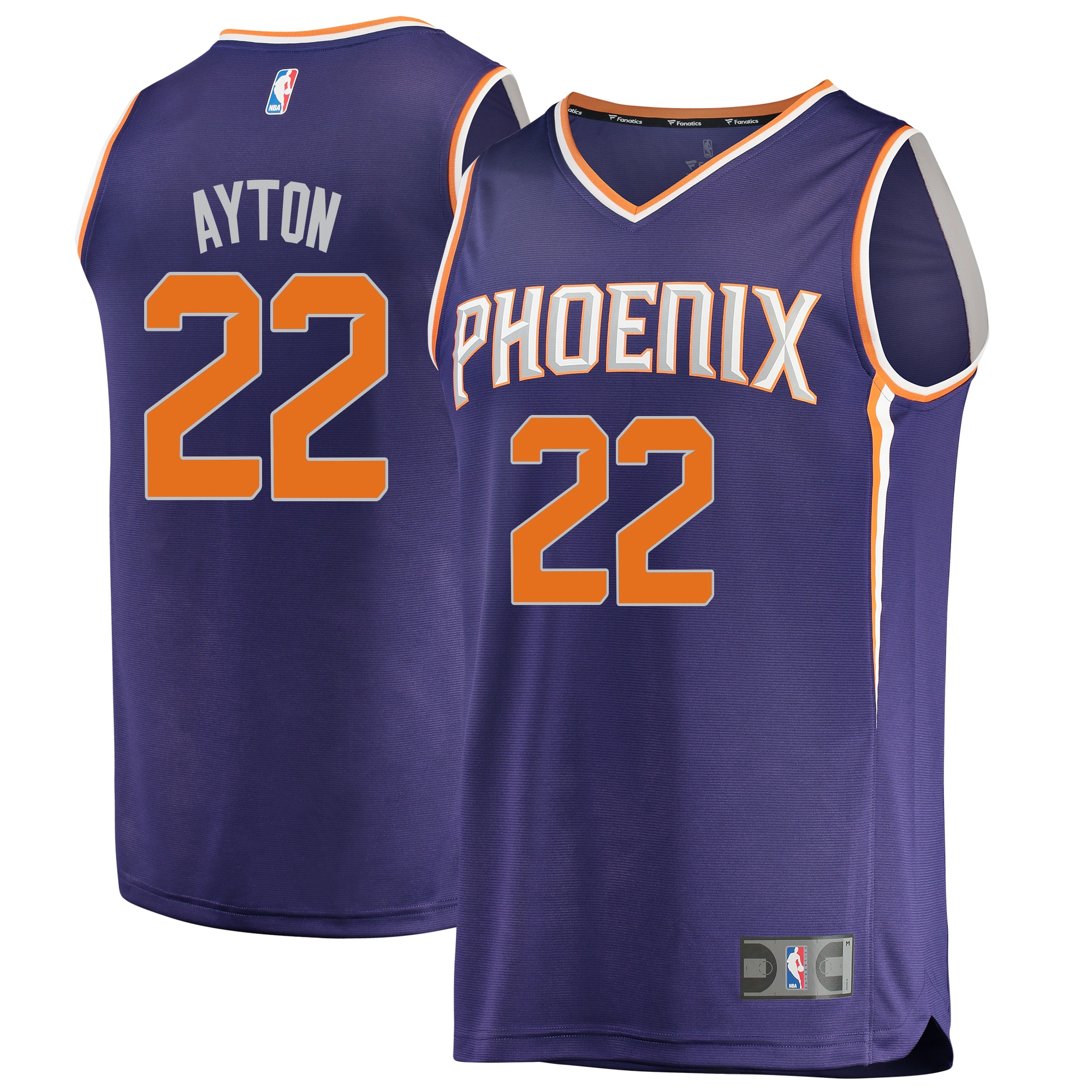 Deandre Ayton Phoenix Suns Fanatics Branded 2018 NBA Draft First Round Pick Fast Break Replica Jersey Purple - Icon Edition