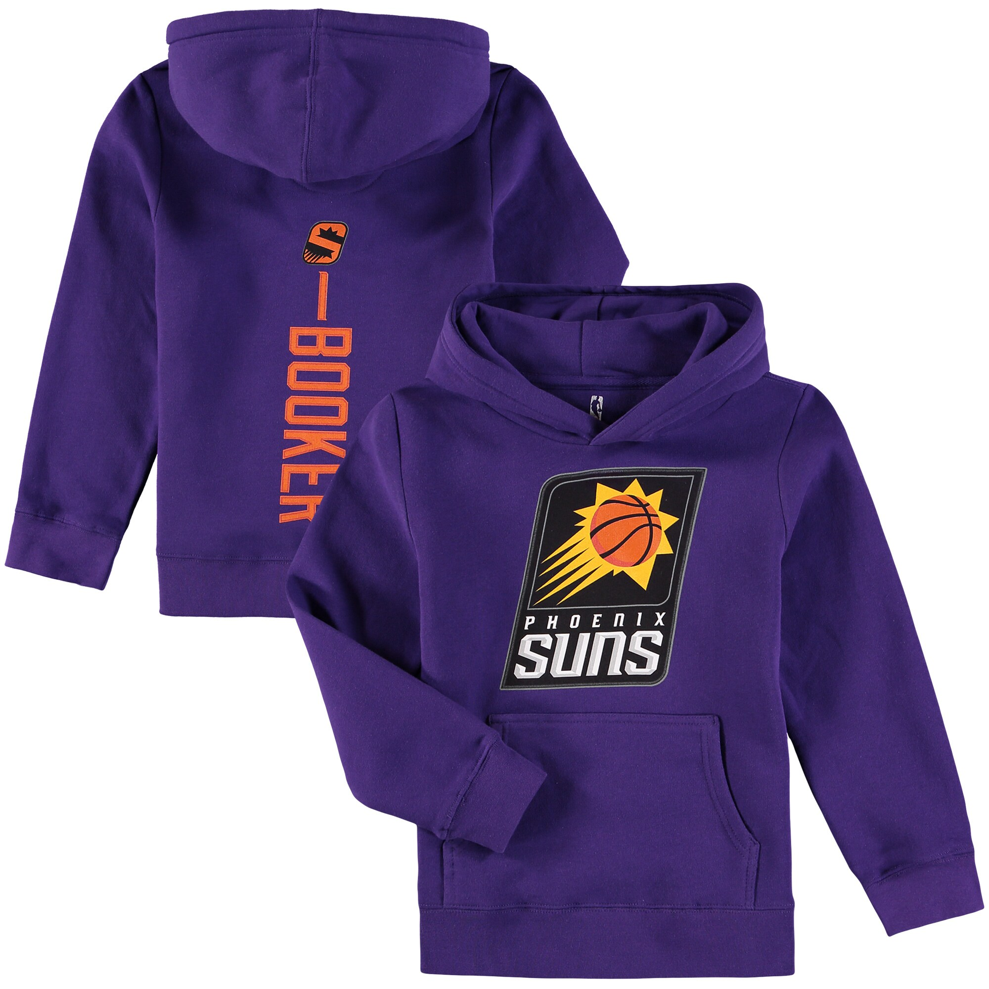 Devin Booker Phoenix Suns Fanatics Branded Youth Backer Name & Number Pullover Hoodie - Purple