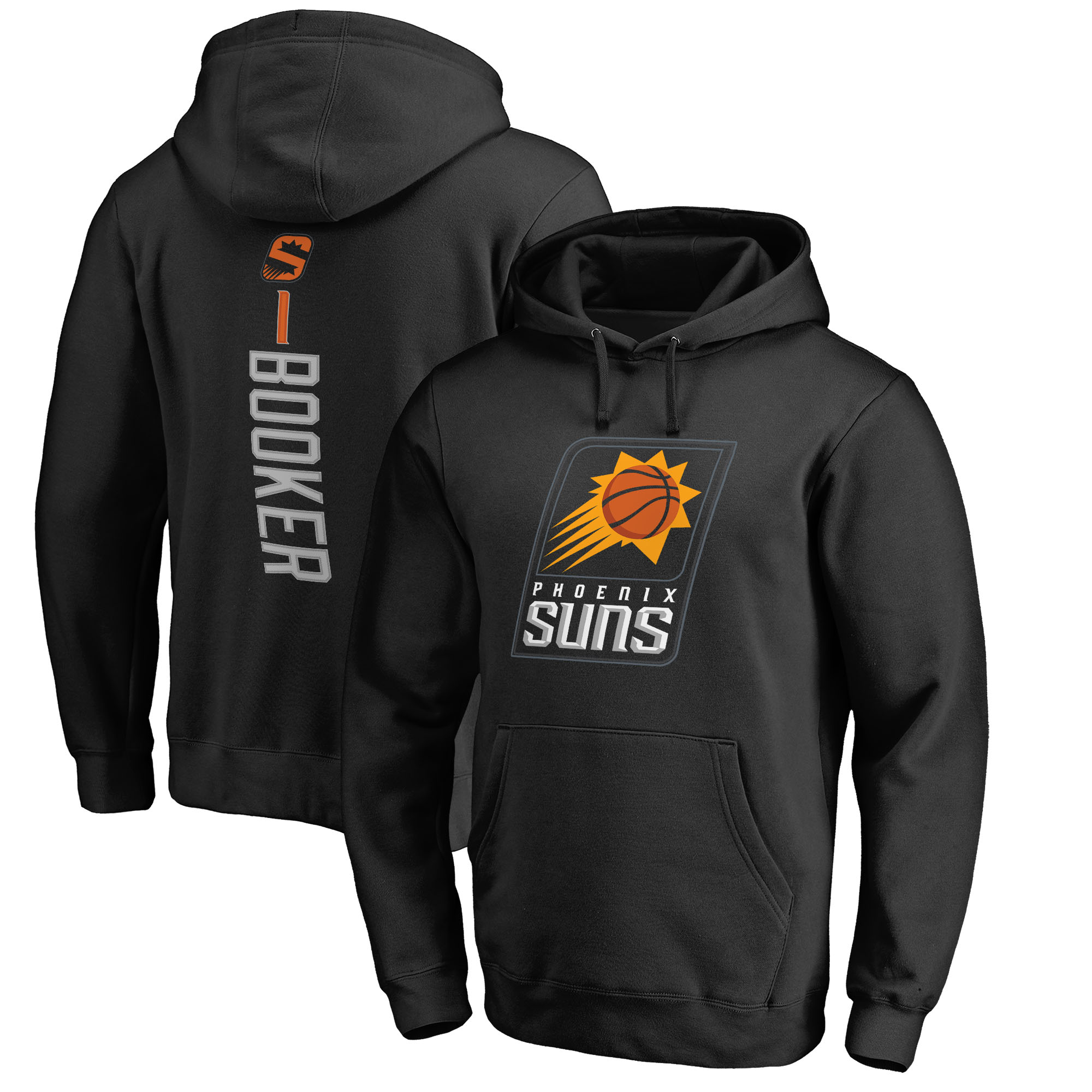 Devin Booker Phoenix Suns Fanatics Branded Backer Name & Number Pullover Hoodie - Black
