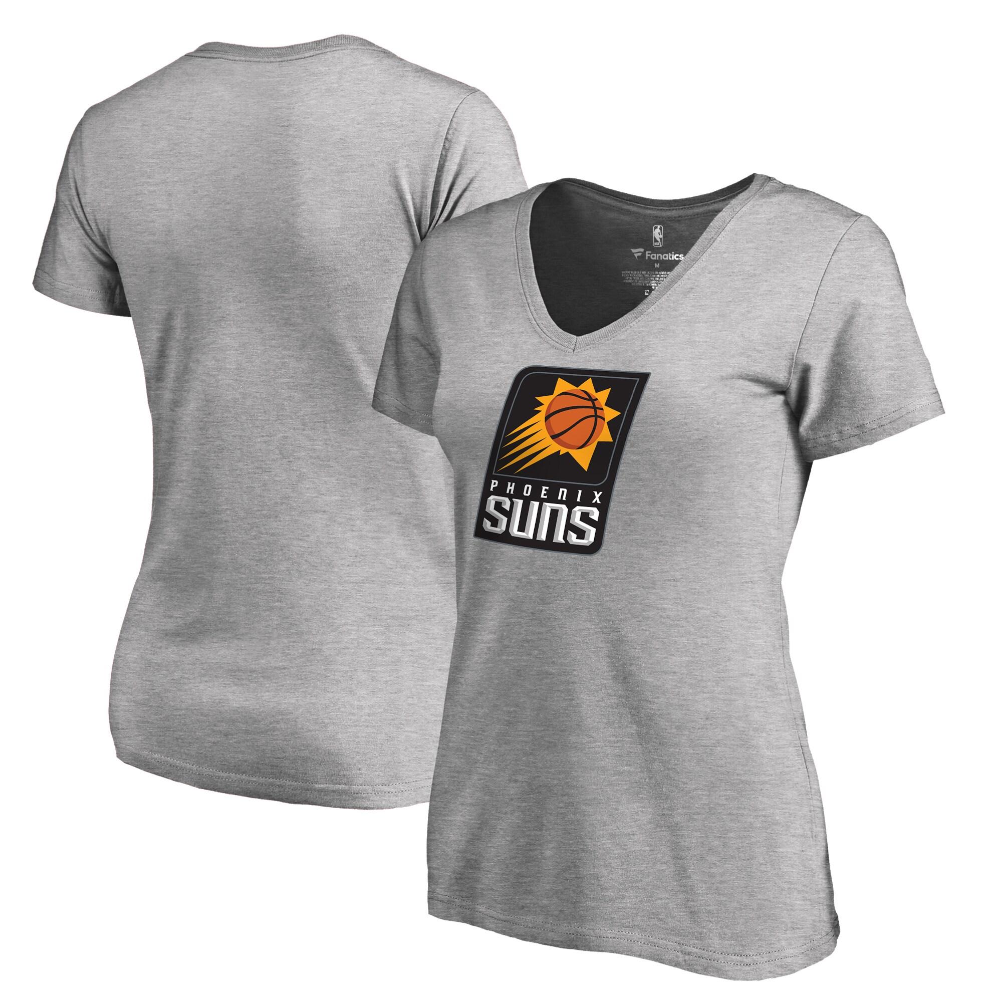 Phoenix Suns Fanatics Branded Women's Primary Logo V-Neck T-Shirt - Ash
